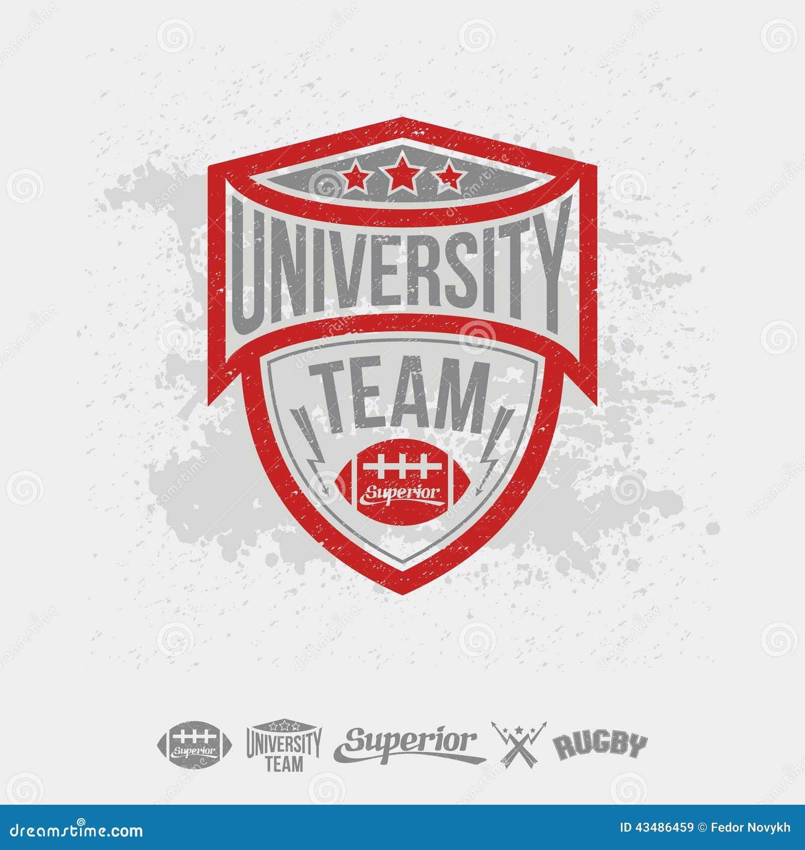 Shirt design elements - Rugby Emblem University Team And Design Elements Royalty Free Stock Images