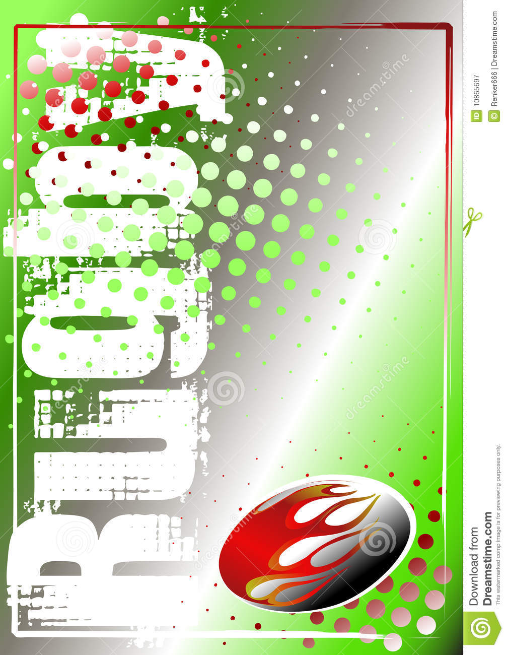 Rugby Golden Poster Background 1 Royalty Free Stock