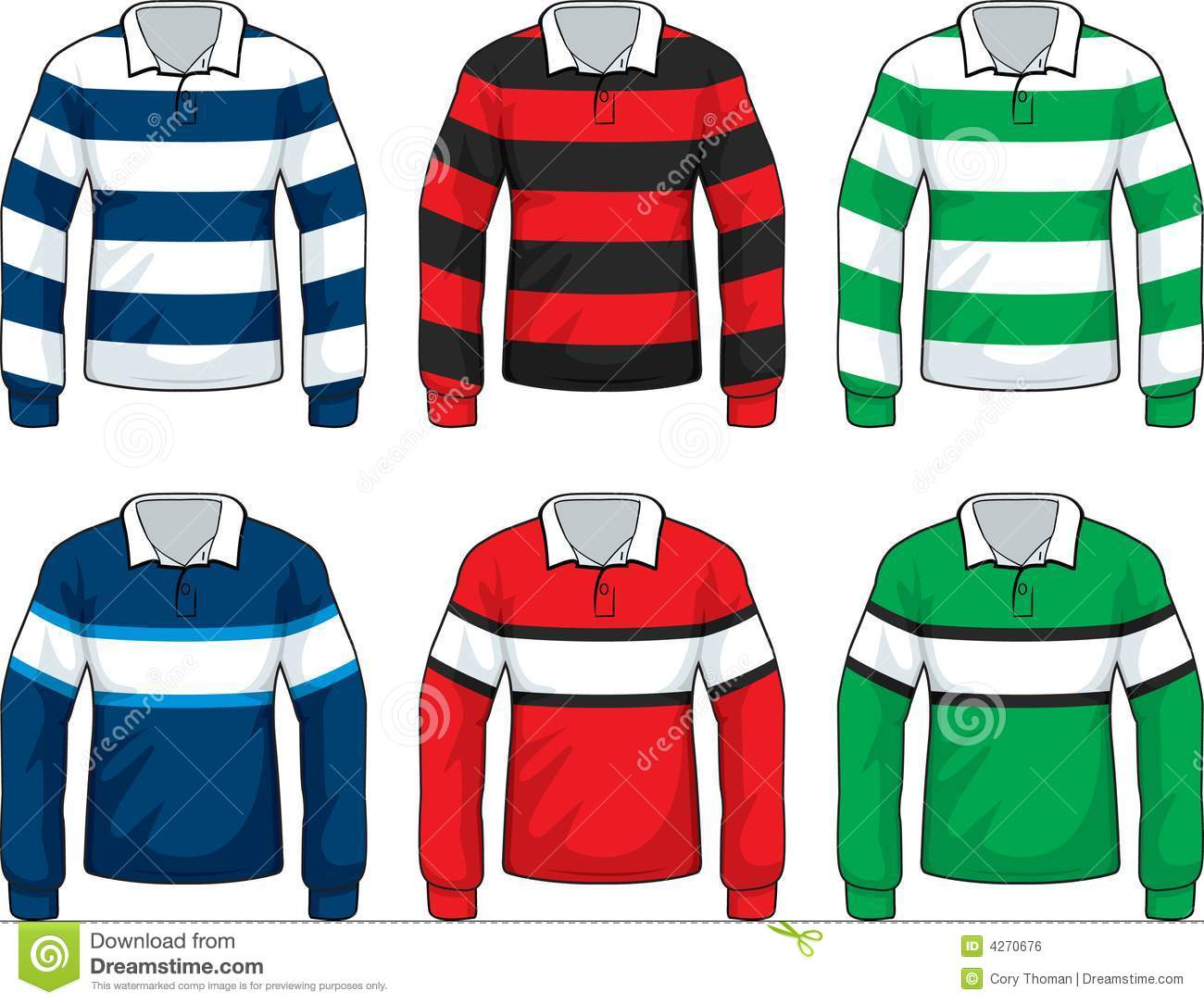 Rugby Jersey Royalty Free Stock Image - Image: 4270676