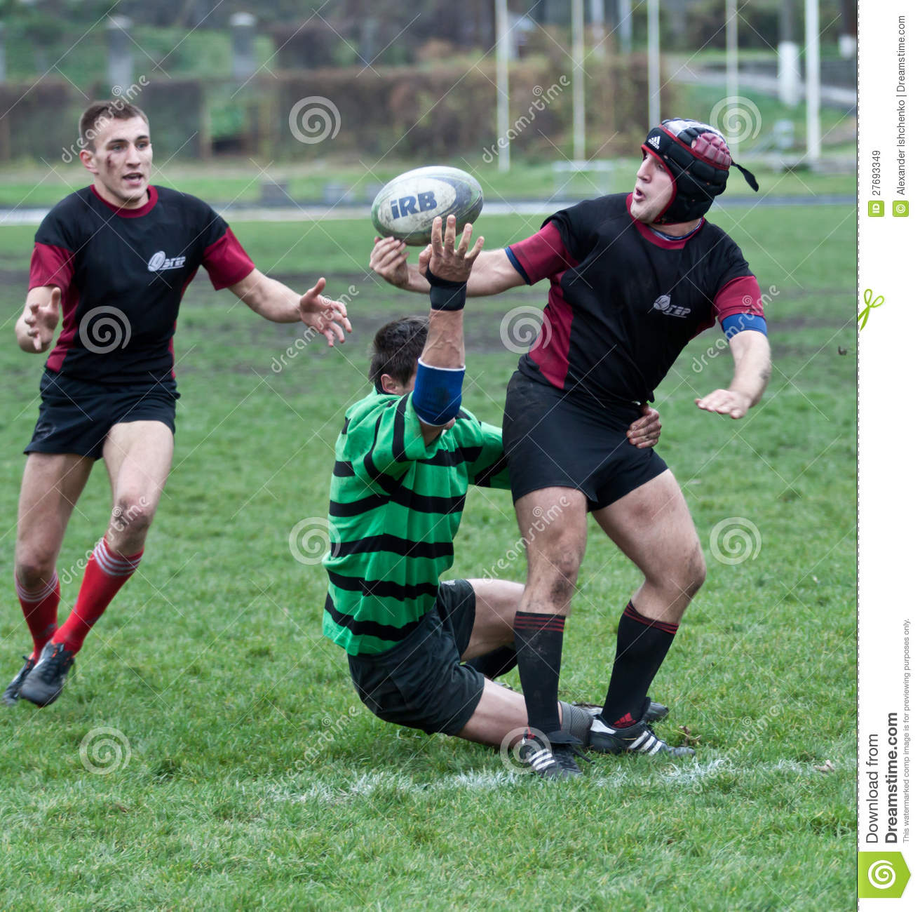 Green Rugby Player: Rugby League Match Editorial Stock Image