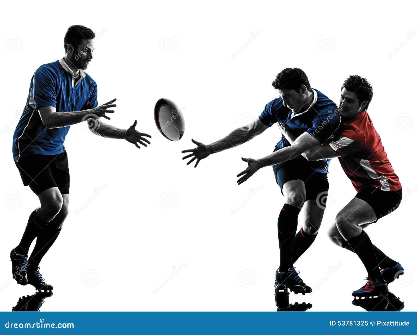 Rugby mężczyzna graczów sylwetka
