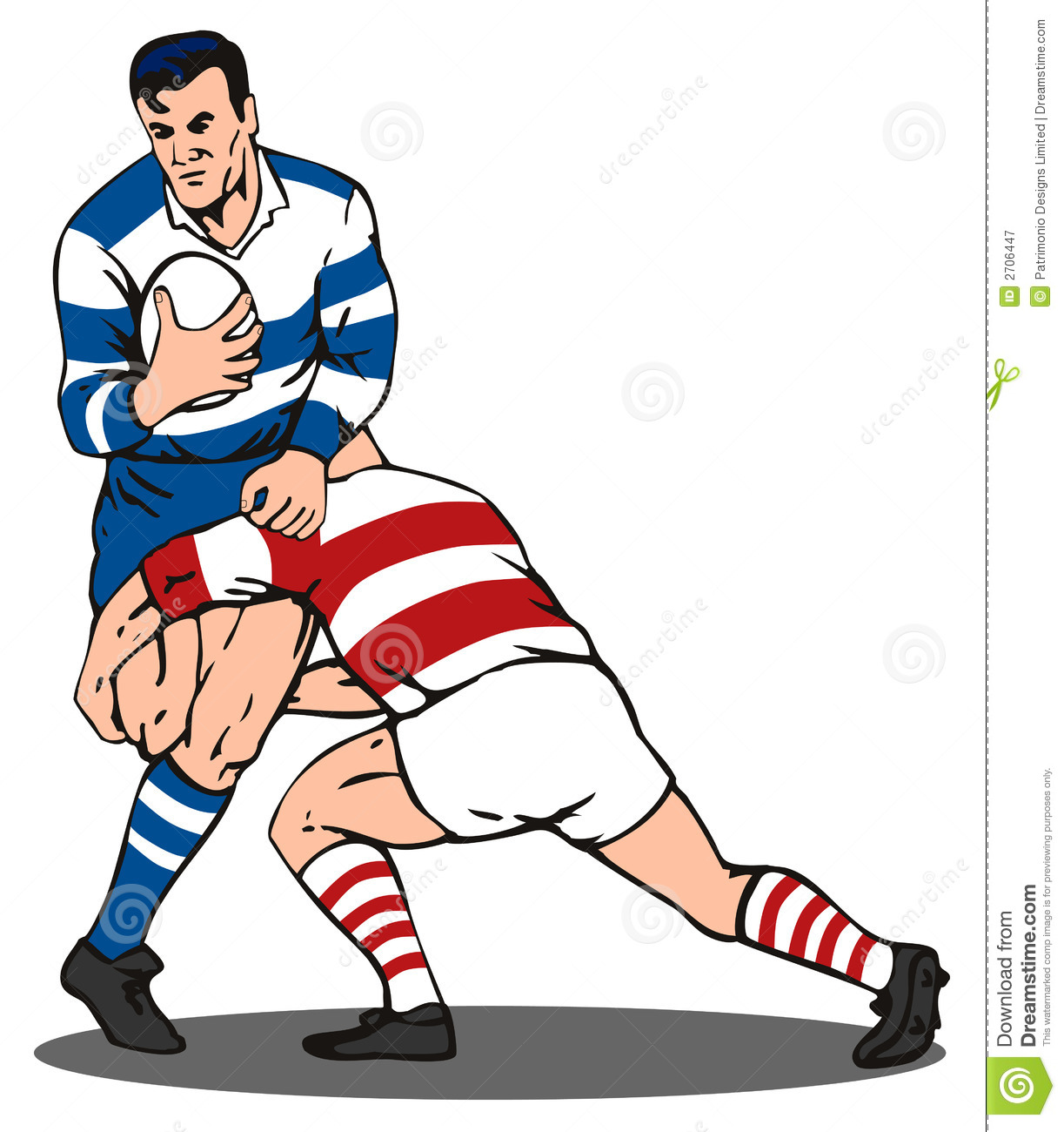 Rugby Player Tackling Royalty Free Stock Photography - Image: 2706447