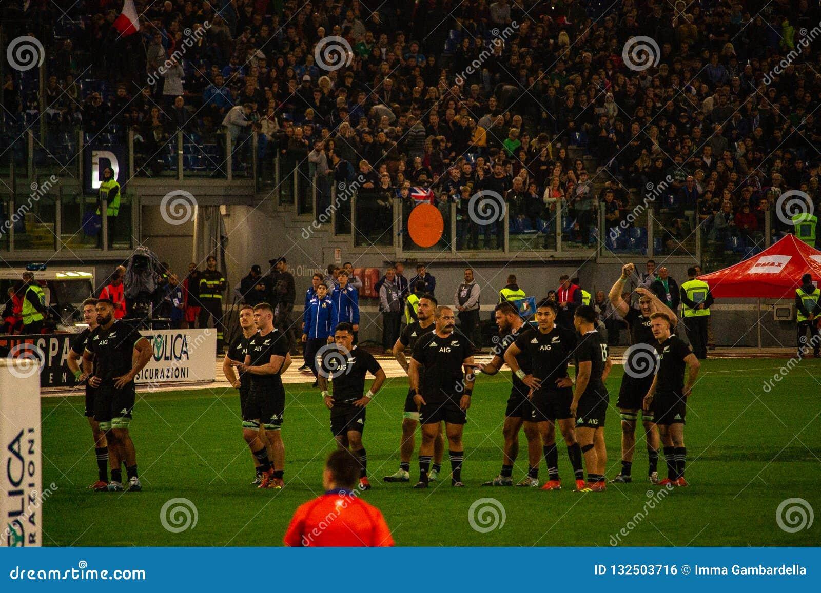 RugbyCattolica match Italien - allt svart