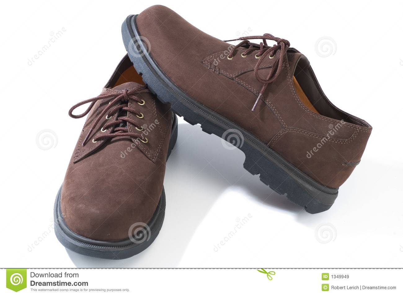 rugged casual shoes stock image image of duty brown