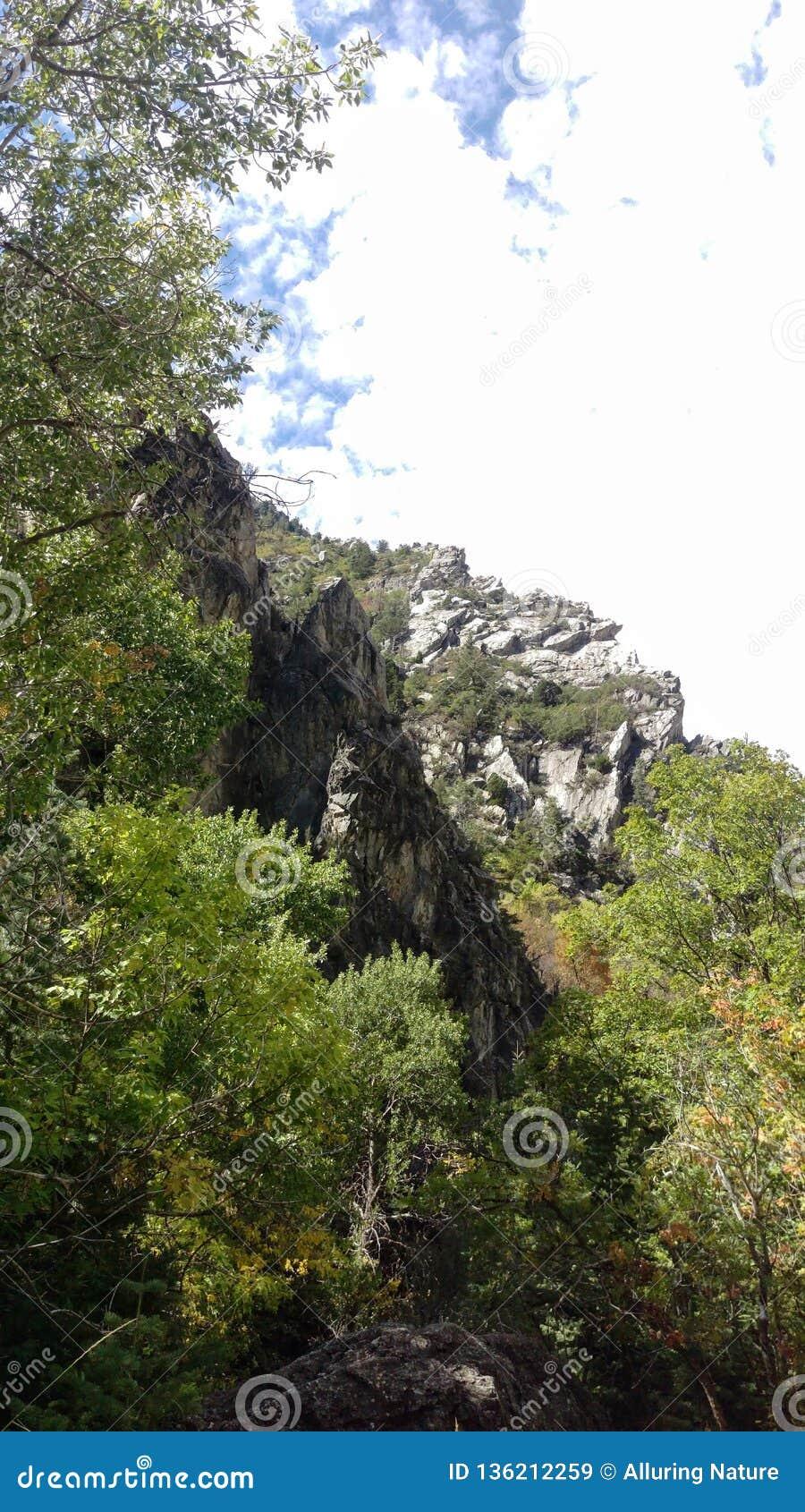Craggy Outcrops in Rock Canyon