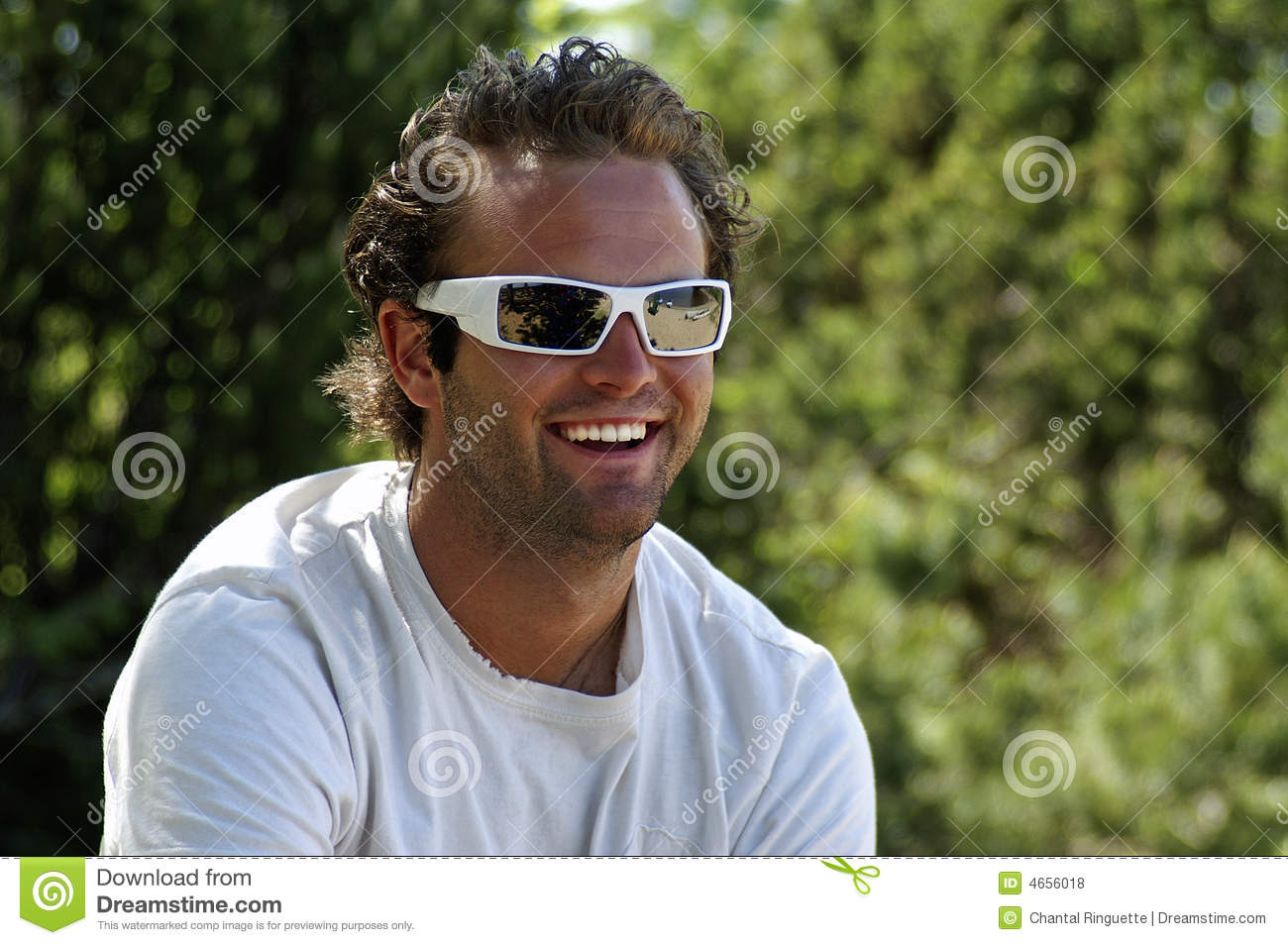 Ruggedly handsome young man with sunglasses Handsome Rugged Man