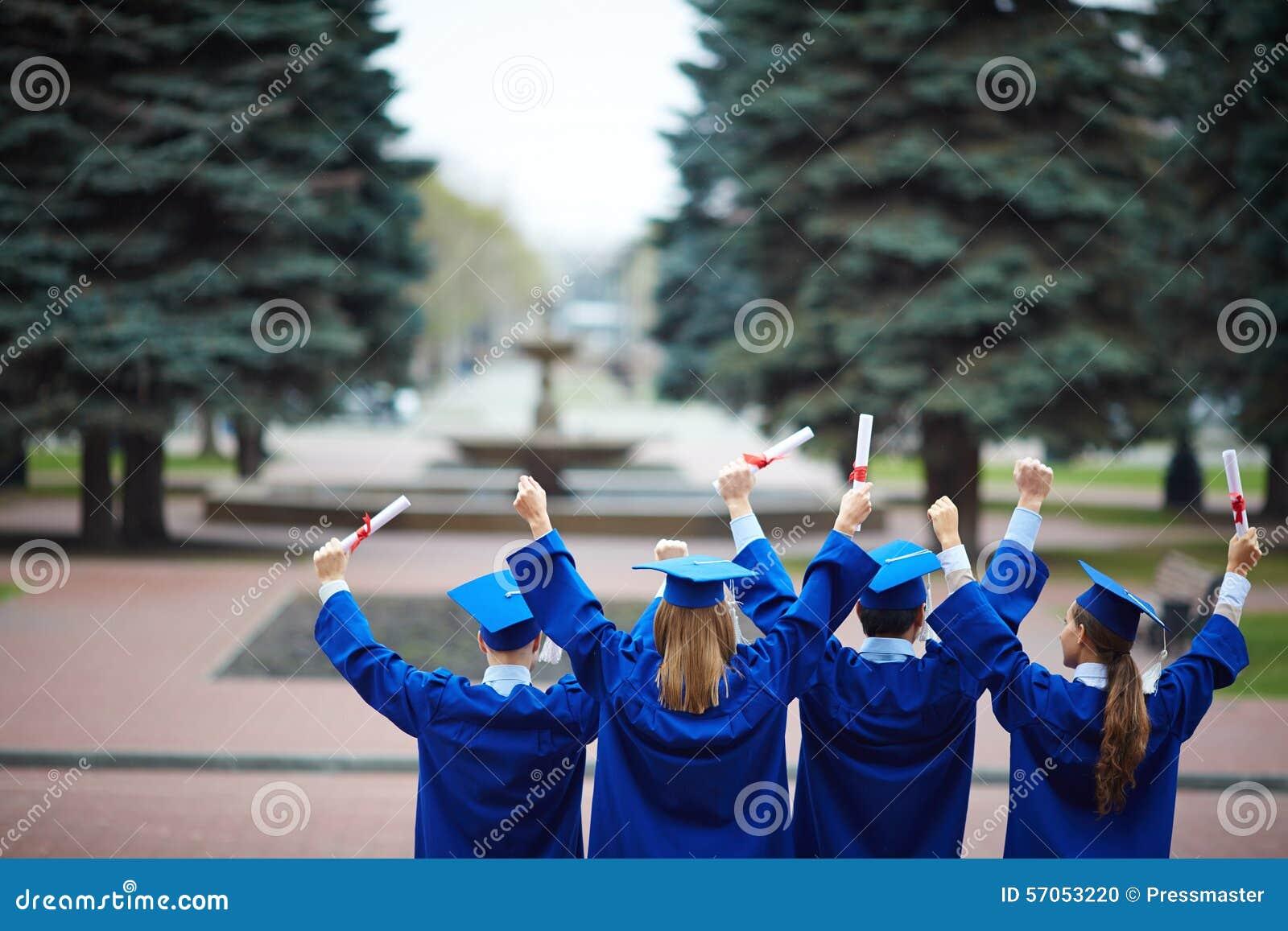 Ruggen van gediplomeerden