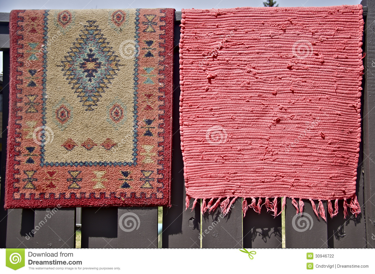 Hanging Rugs Rugs Hanging Out For Spring Cleaning Stock Photography Image