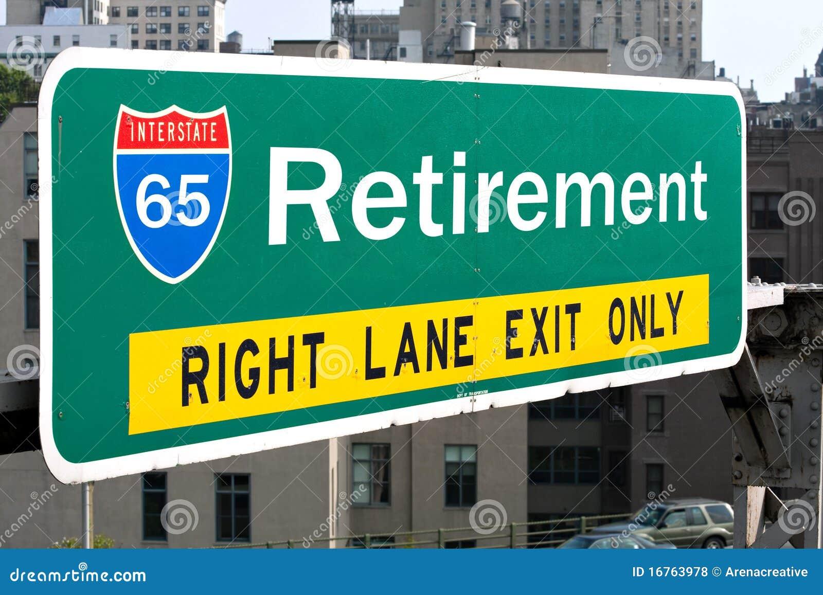 Ruhestand-Datenbahn-Zeichen