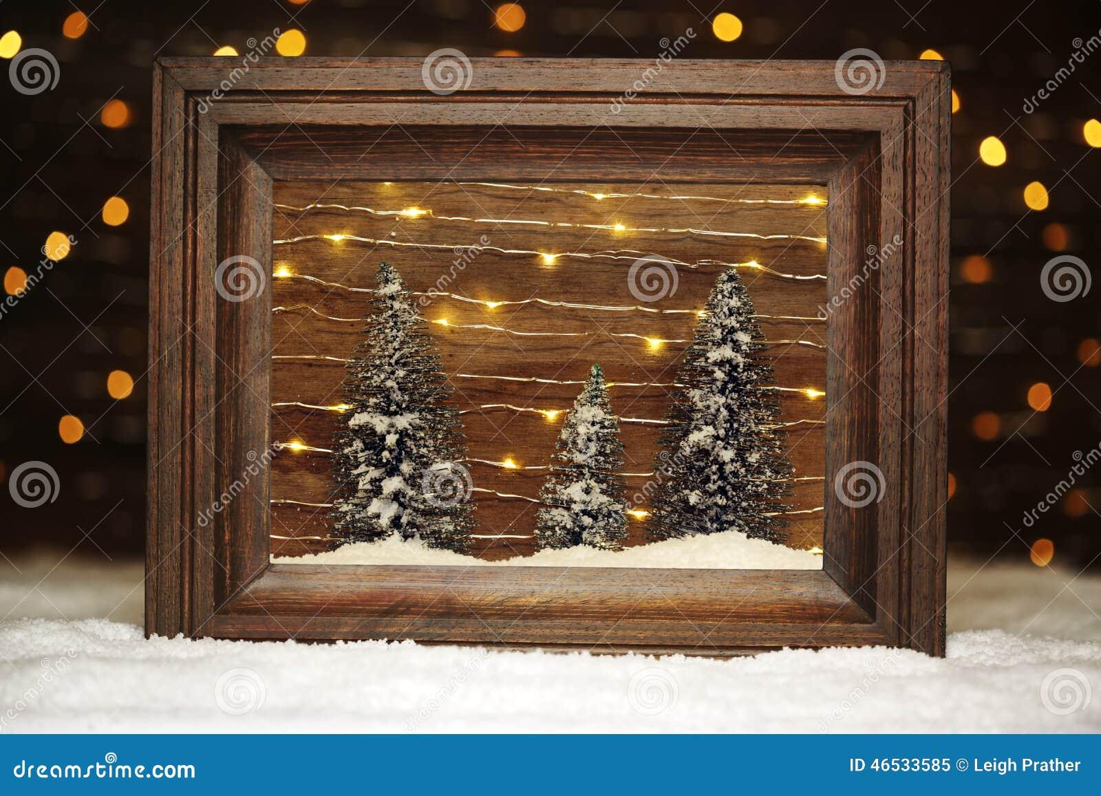 ruhige winterszene stockfoto bild 46533585. Black Bedroom Furniture Sets. Home Design Ideas