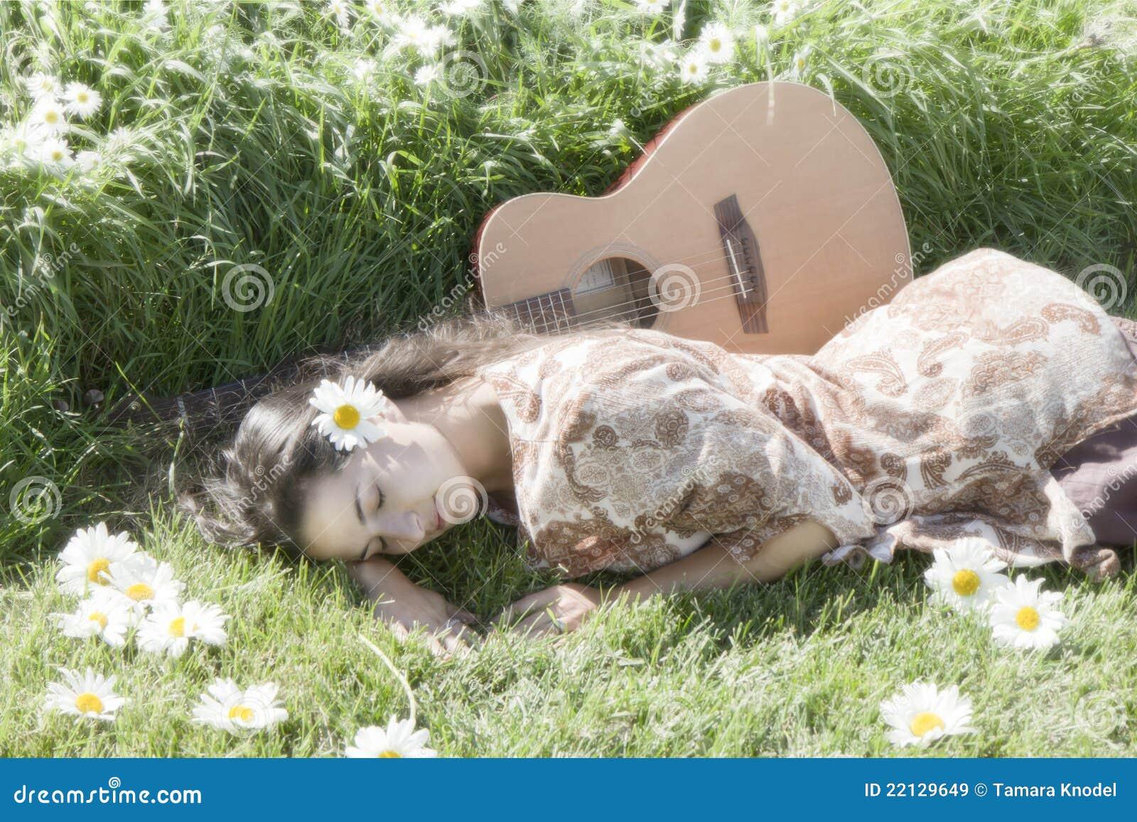Ruhiger glücklicher Hippie
