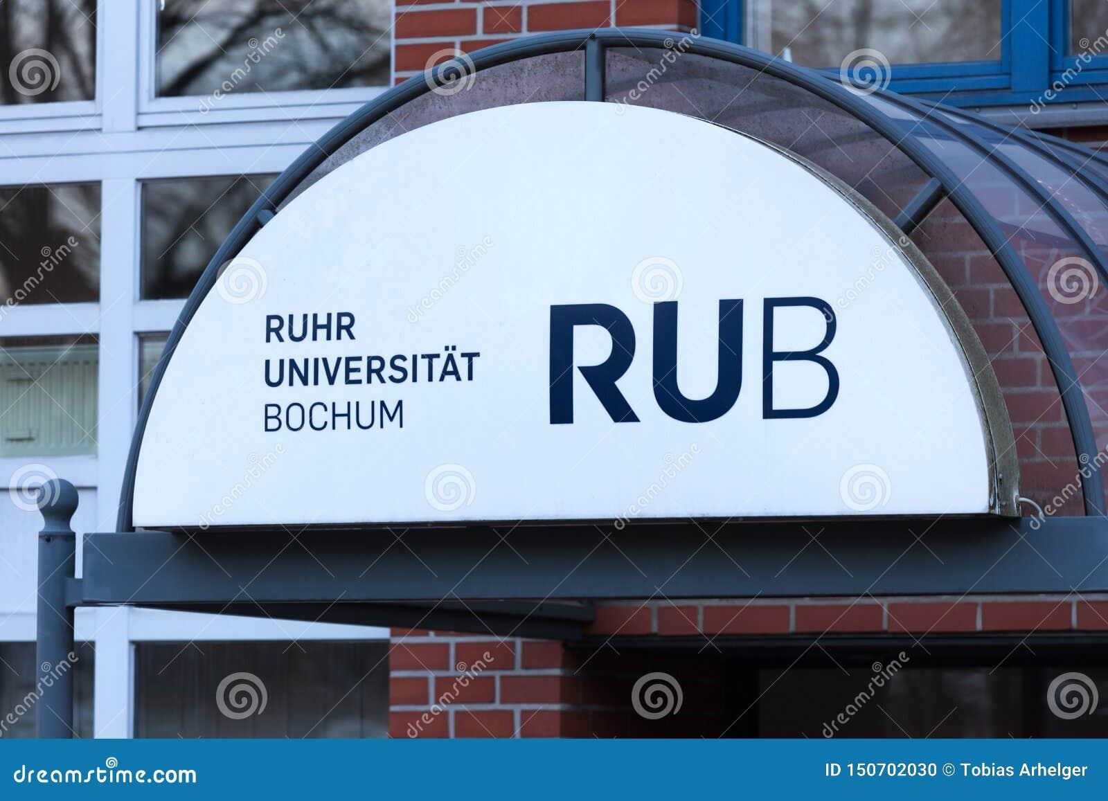 Ruhr university bochum sign in bochum  germany
