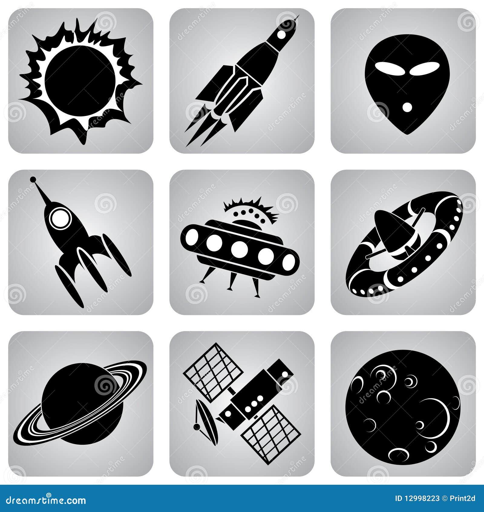 Ruimte pictogrammen