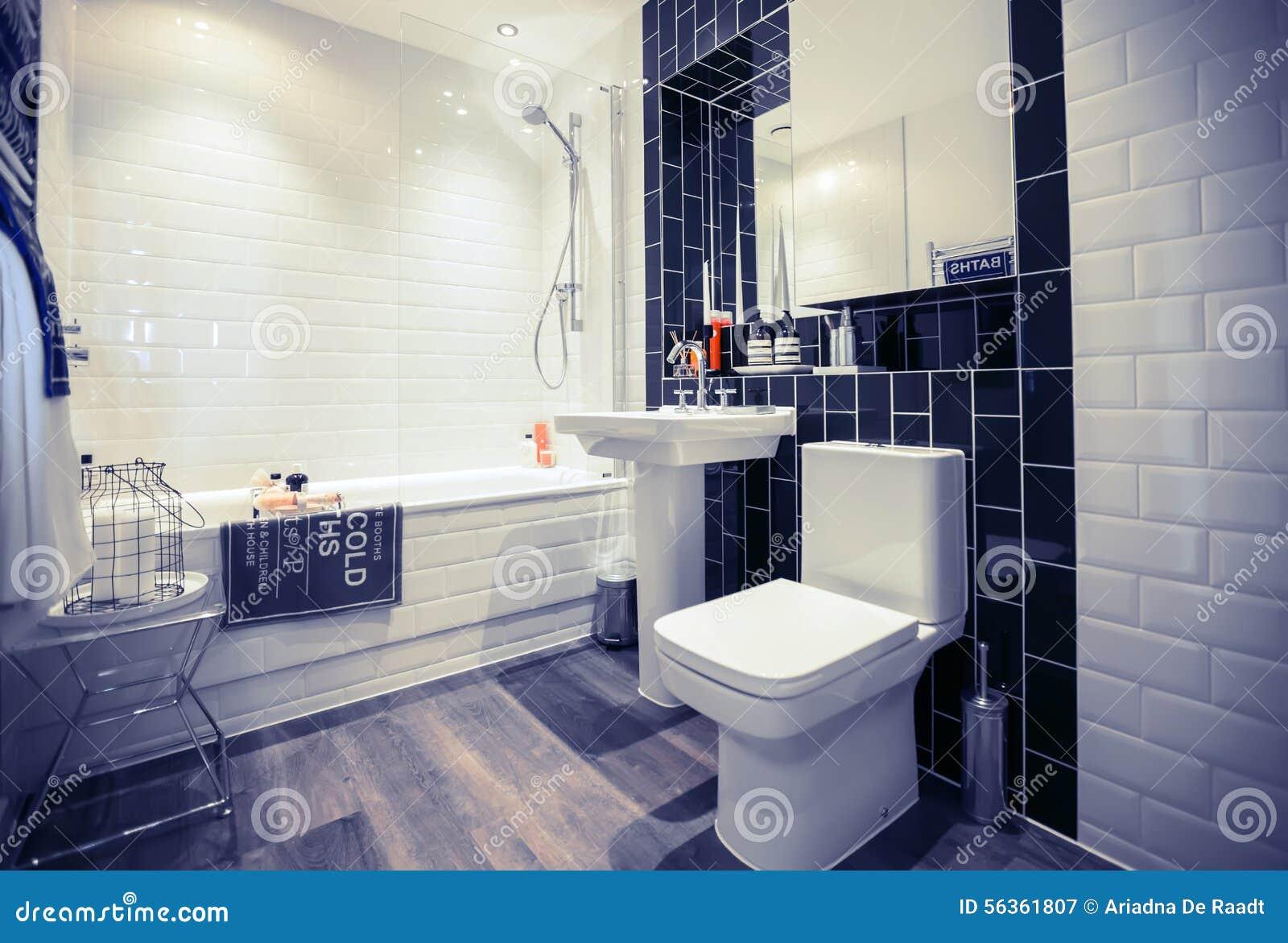 Ruimte van huis de modieuze wc stock afbeelding afbeelding
