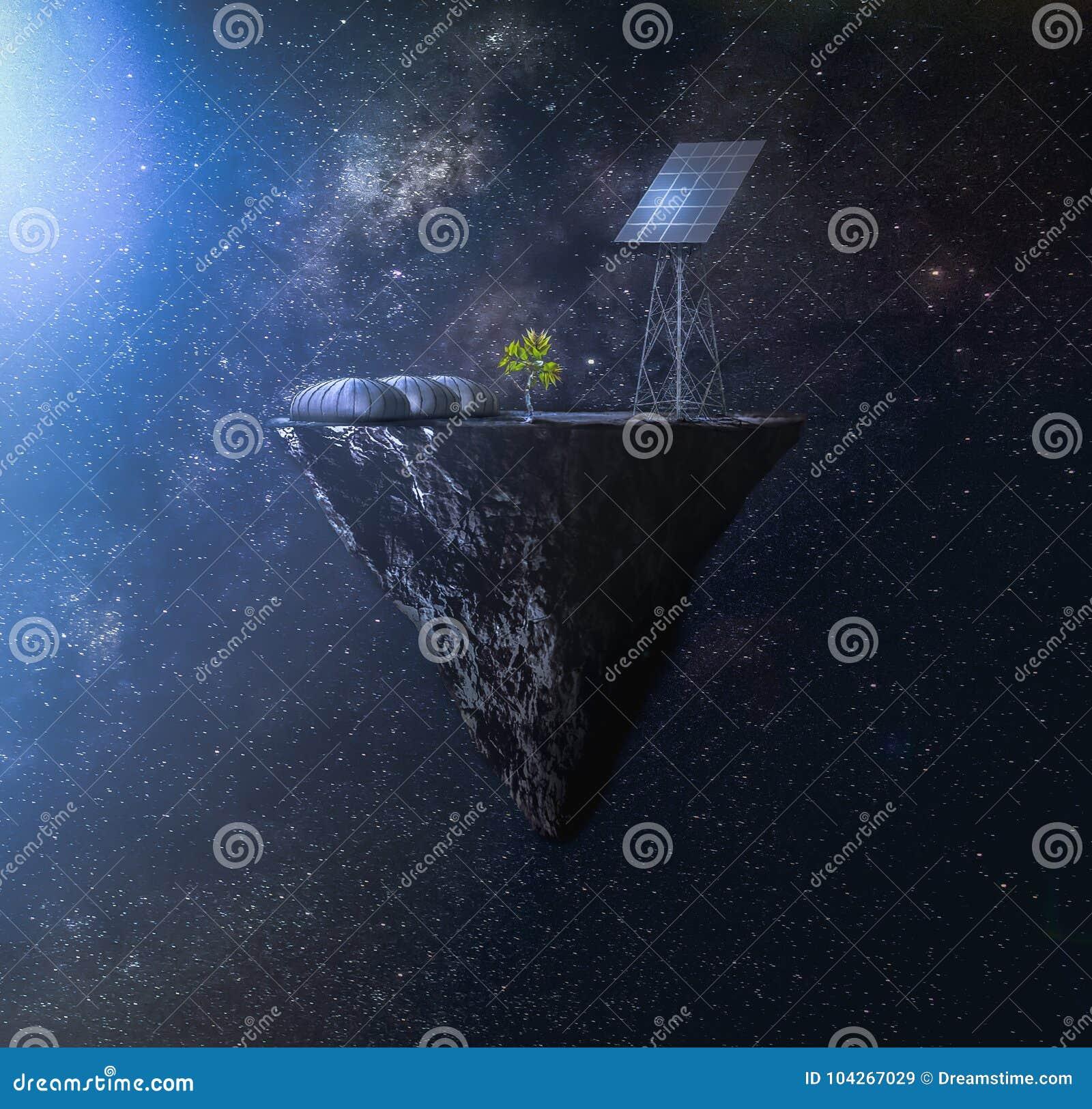 Ruimtekolonie naast een neutronenster