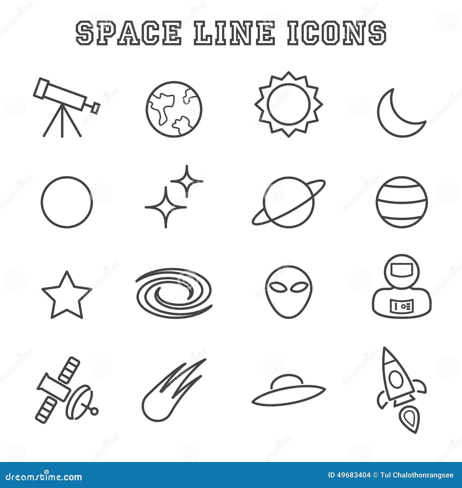 Ruimtelijnpictogrammen