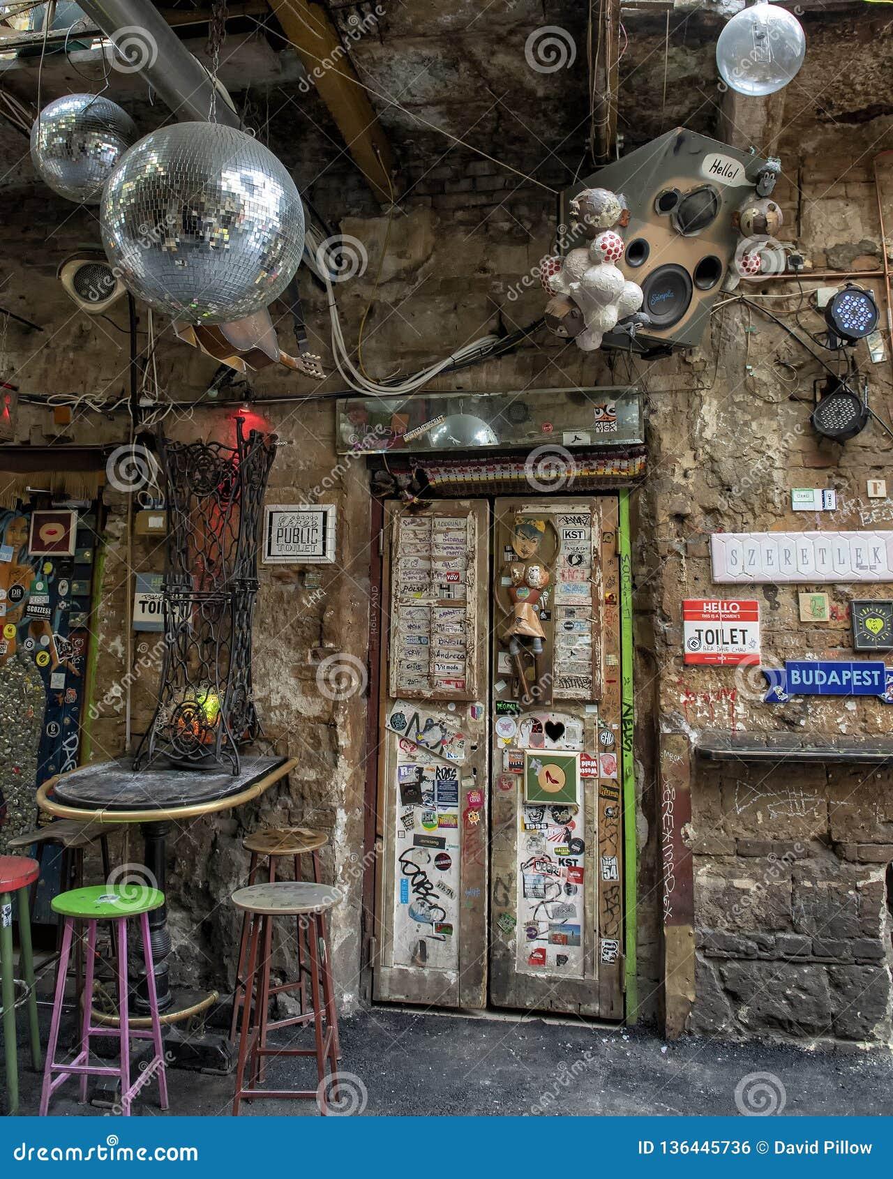 Ruin Bar In Budapest, Hungary Stock Photo - Image of ...