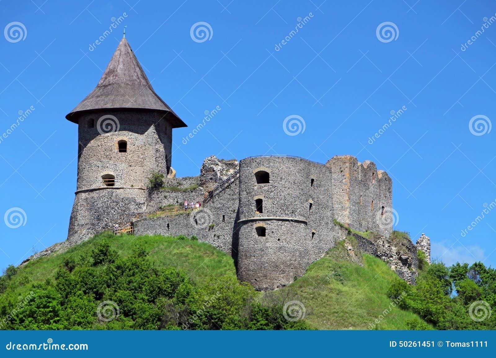 Castle Somoska Near Siatorska Bukovinka Slovakia Royalty