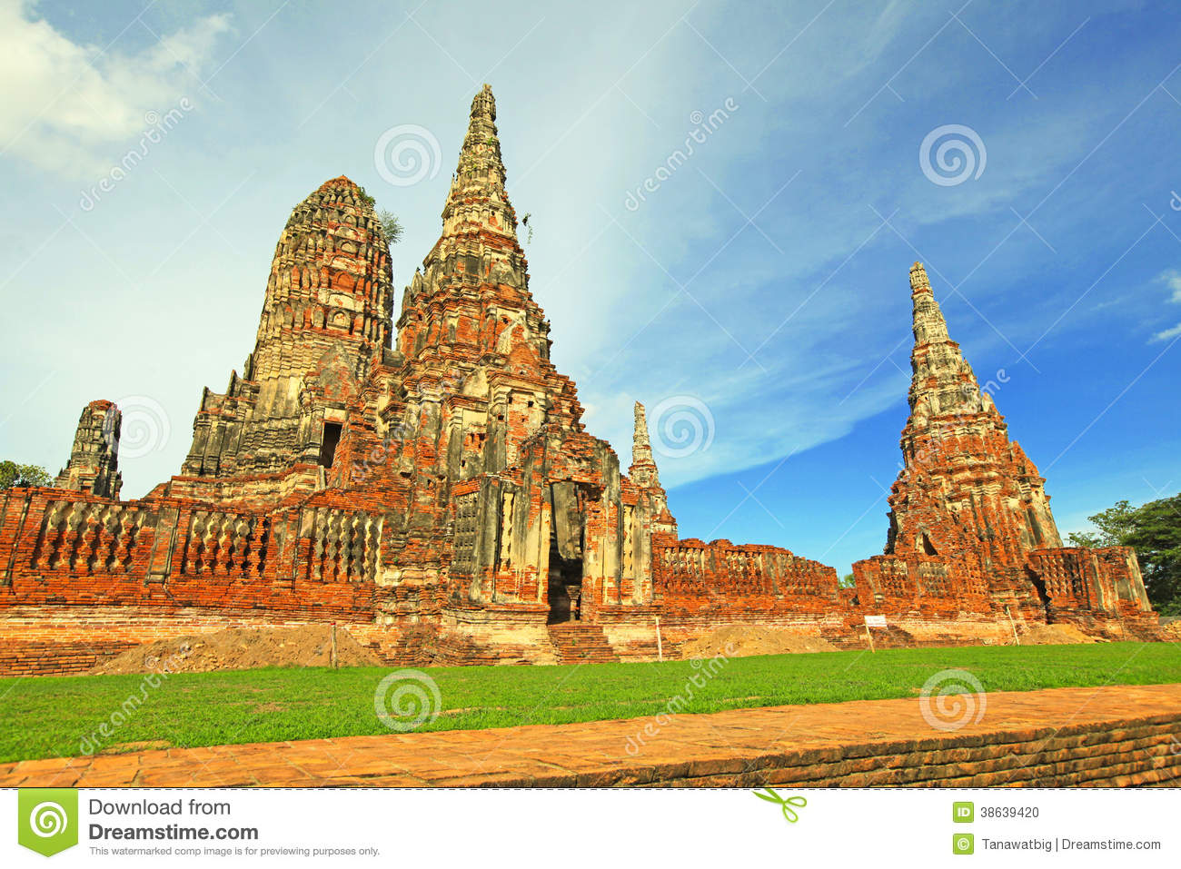 ruin of the old siam thailand stock photo image 38639420. Black Bedroom Furniture Sets. Home Design Ideas