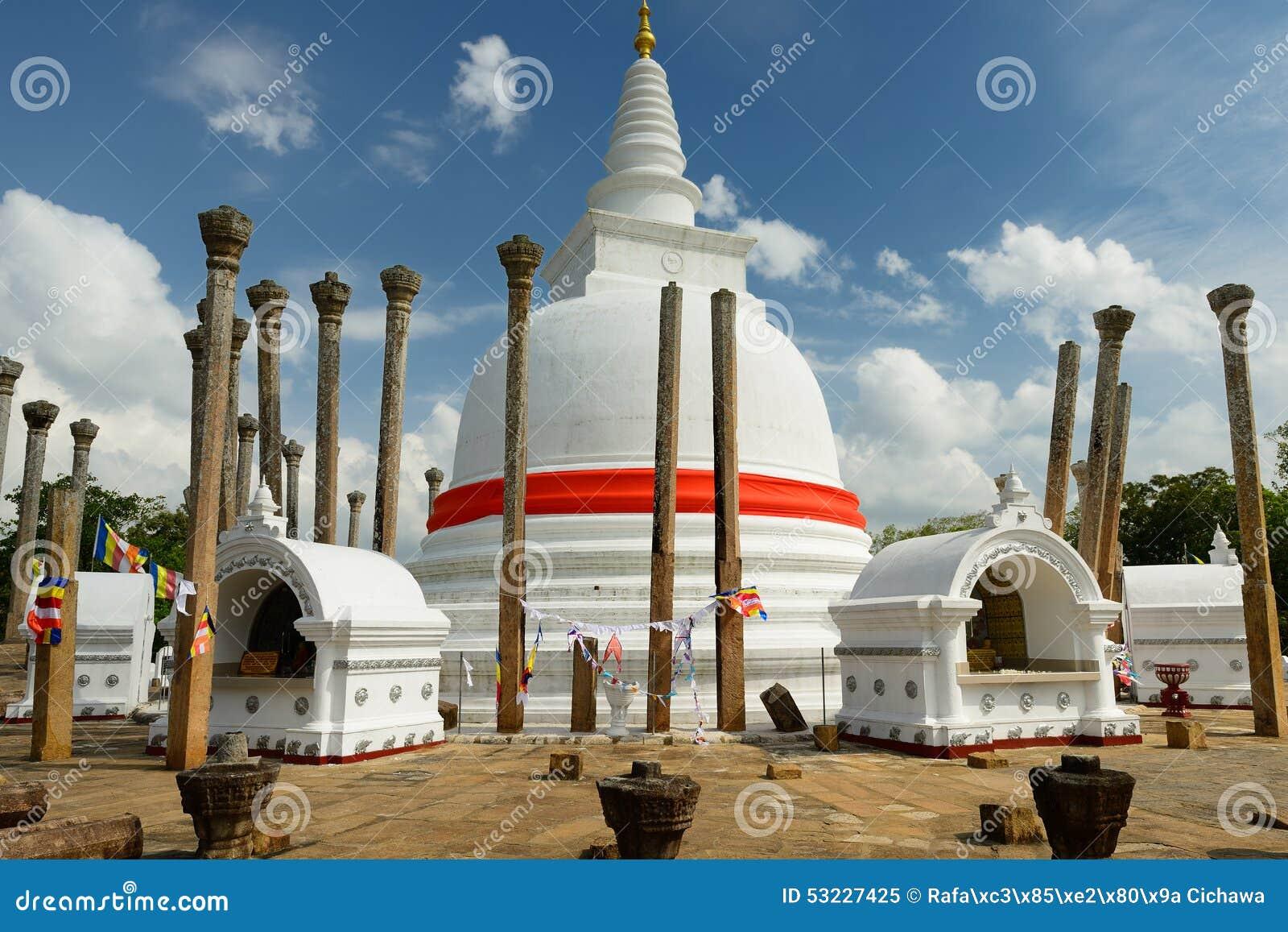Ruina de Anuradhapura, dagoba de Thuparamaya, Sri Lanka