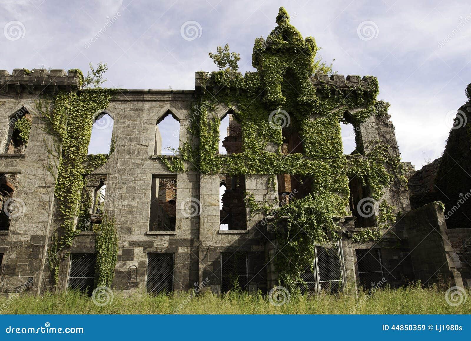 Ruina Roosevelt Island del renwick del hospital de la viruela