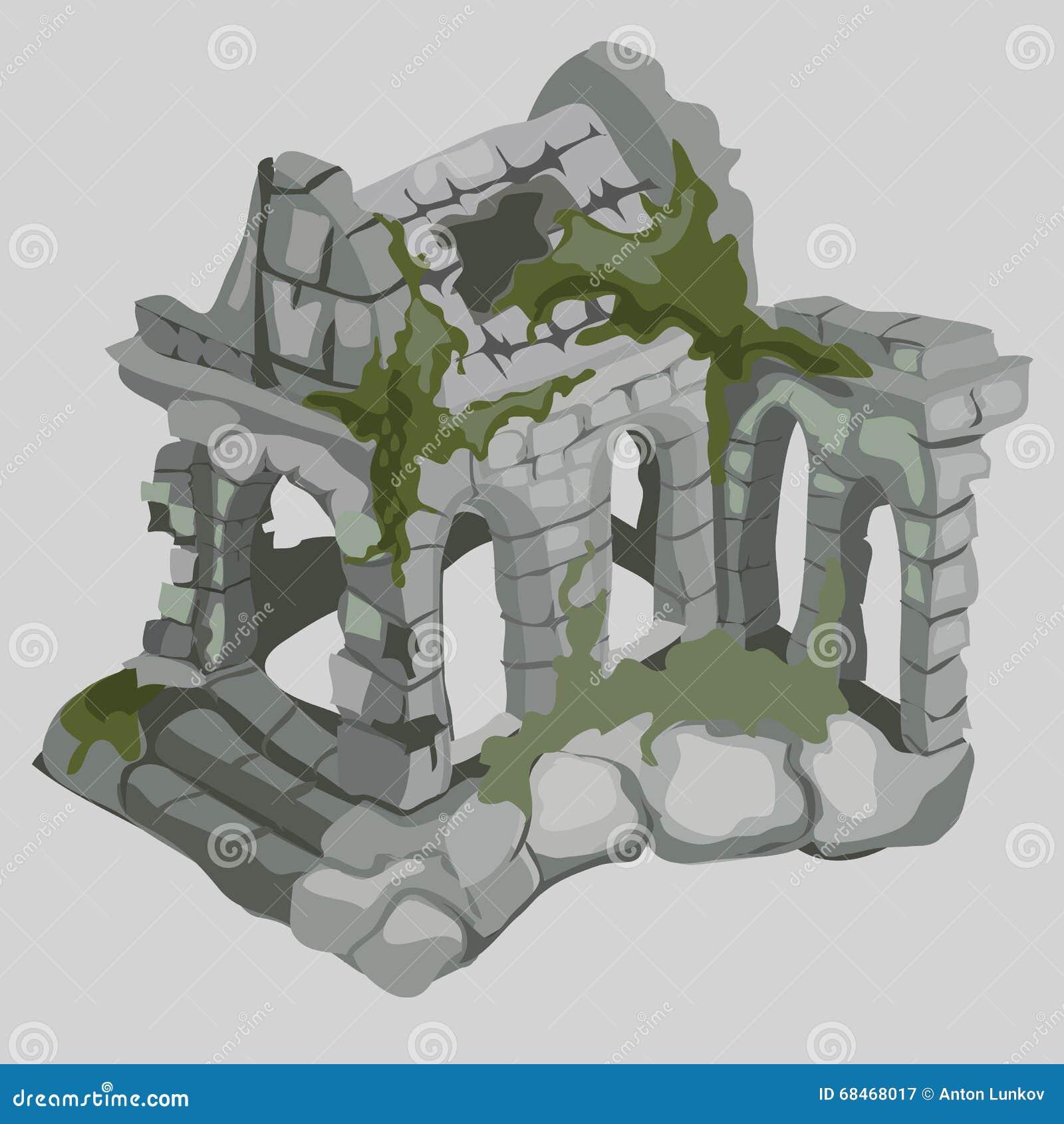 Ruinas abandonadas de las casas antiguas, estilo medieval