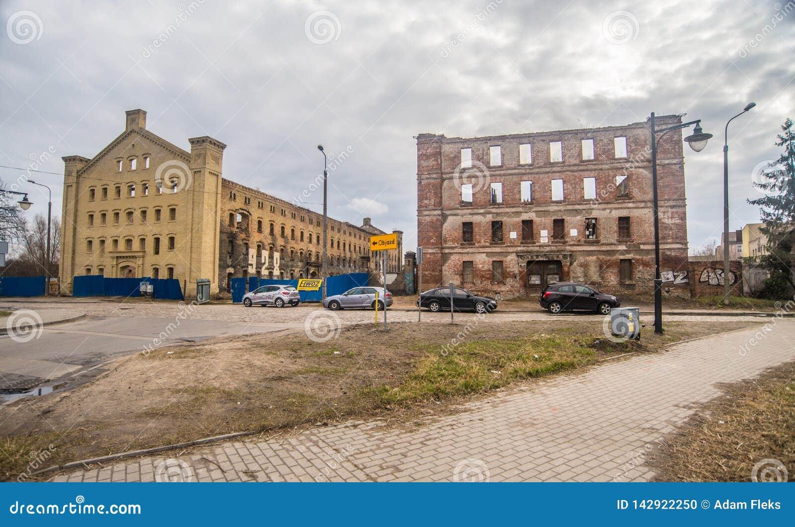 Ruinas antiguas del matadero en la ciudad vieja, Gdansk, Polonia
