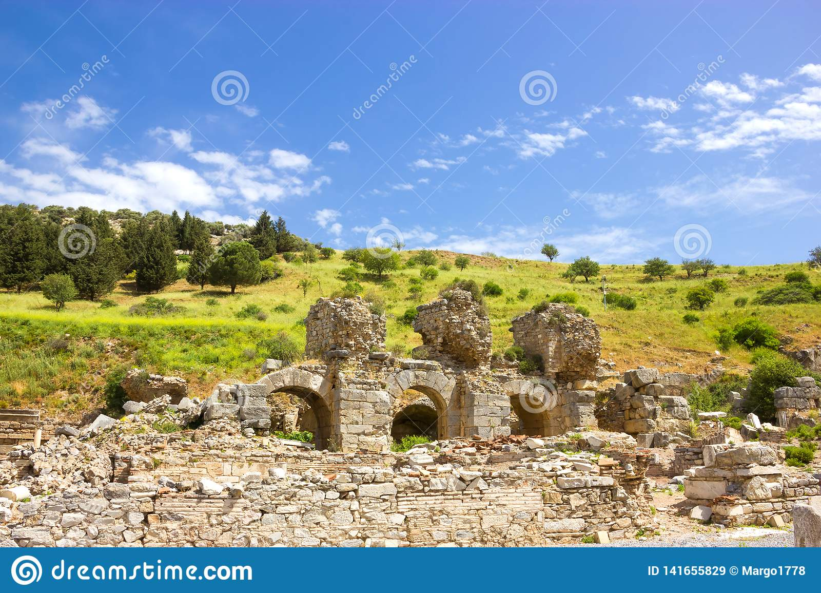 Ruinas de la ciudad antigua de Ephesus en Turquía