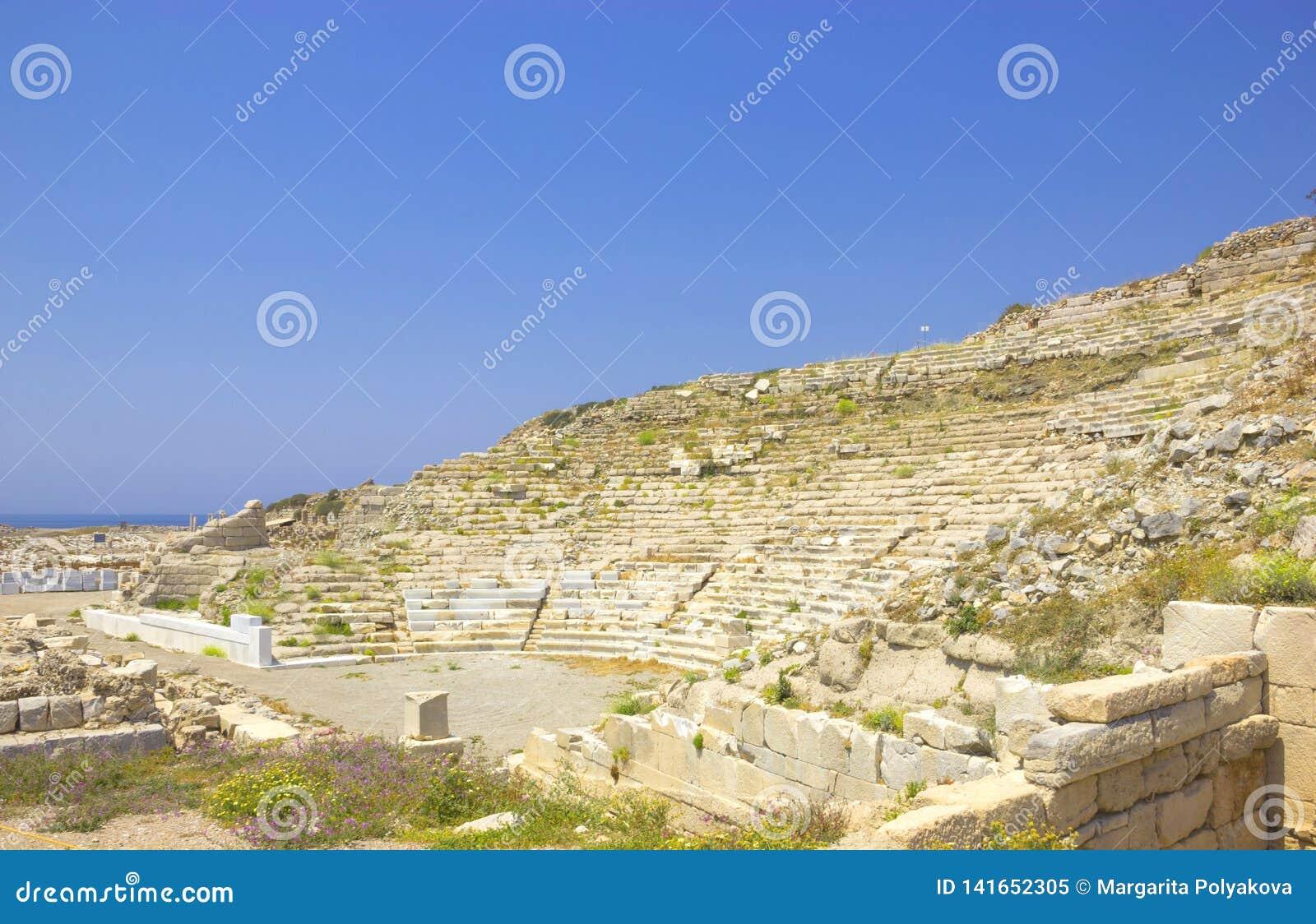 Ruinas de la ciudad antigua de Knidos en Turquía