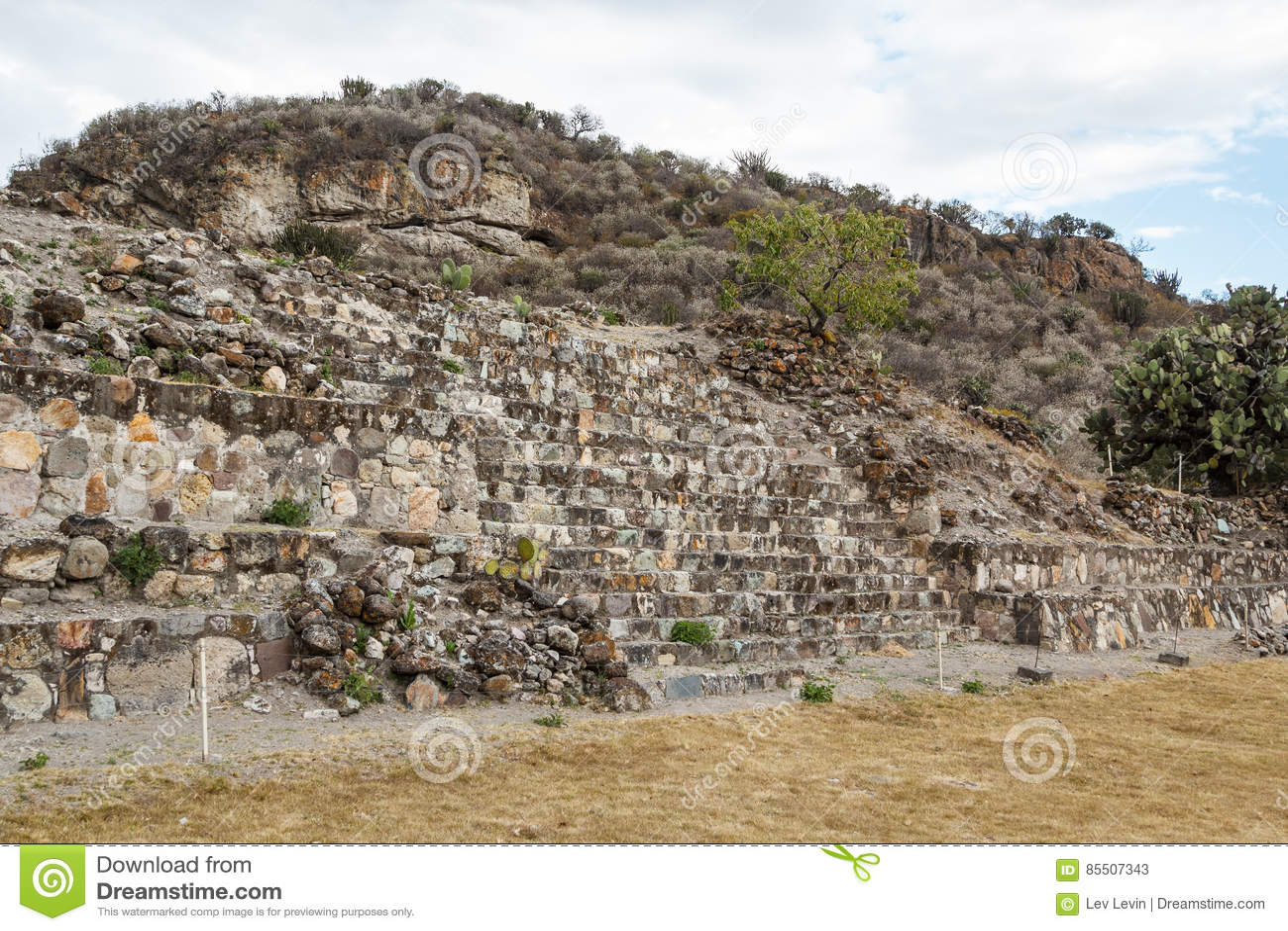Ruinas de la ciudad Yagul de Zapotec de los pre-hispanos