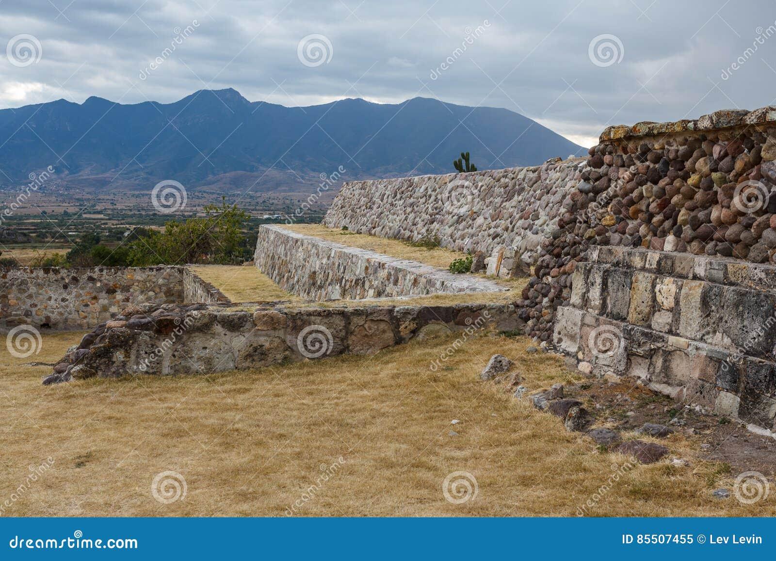 Ruinas de la ciudad Yagul, Puebla de Zapotec de los pre-hispanos