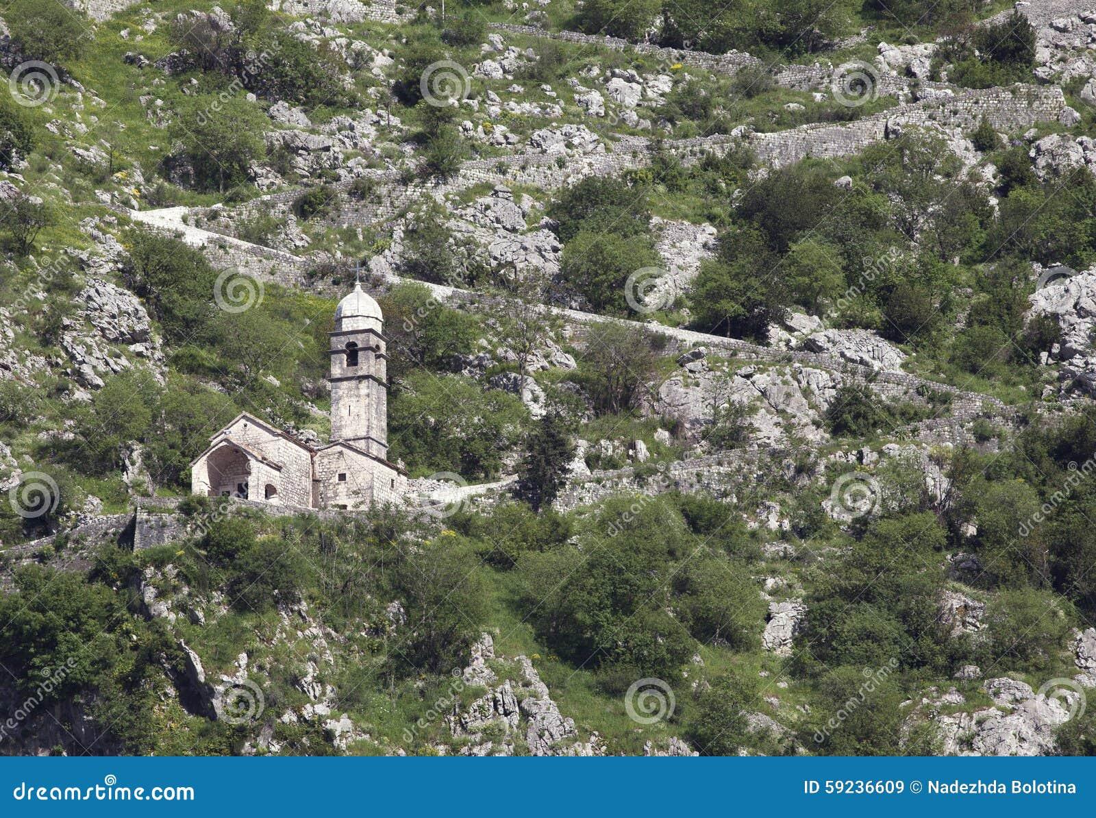 Download Ruinas De La Fortaleza Sobre Kotor Imagen de archivo - Imagen de montaña, mediterráneo: 59236609
