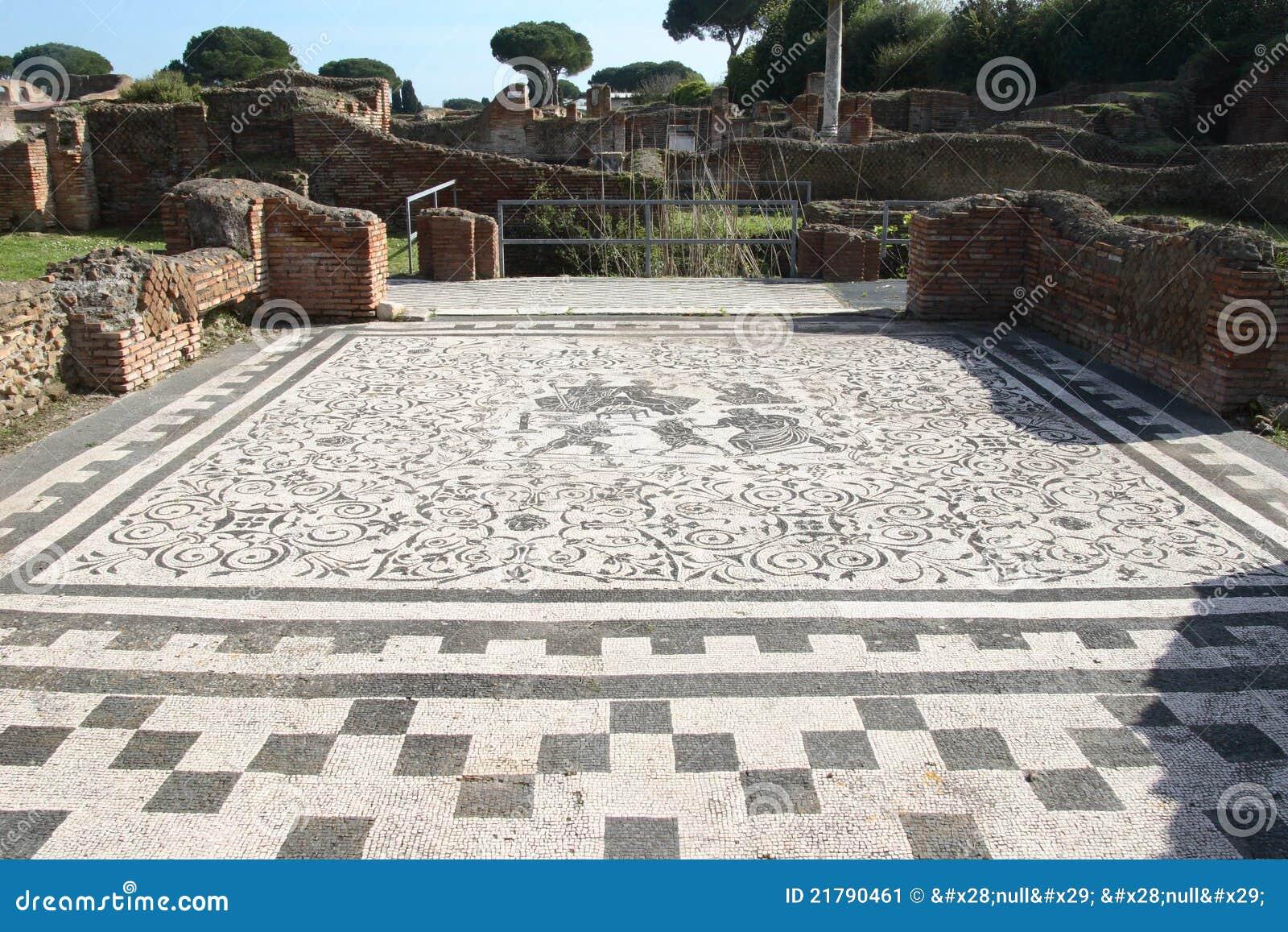 Ruinas de los antica de ostia imagen de archivo imagen for Mr arredamenti ostia antica