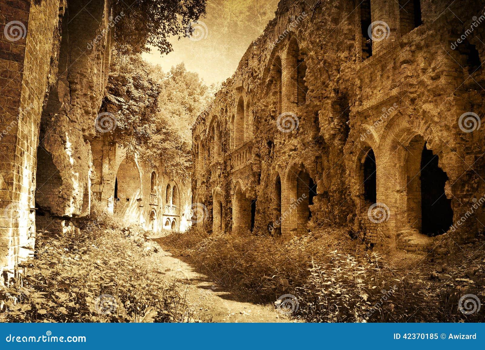 Ruinas del fuerte antiguo, Ucrania, imagen artística