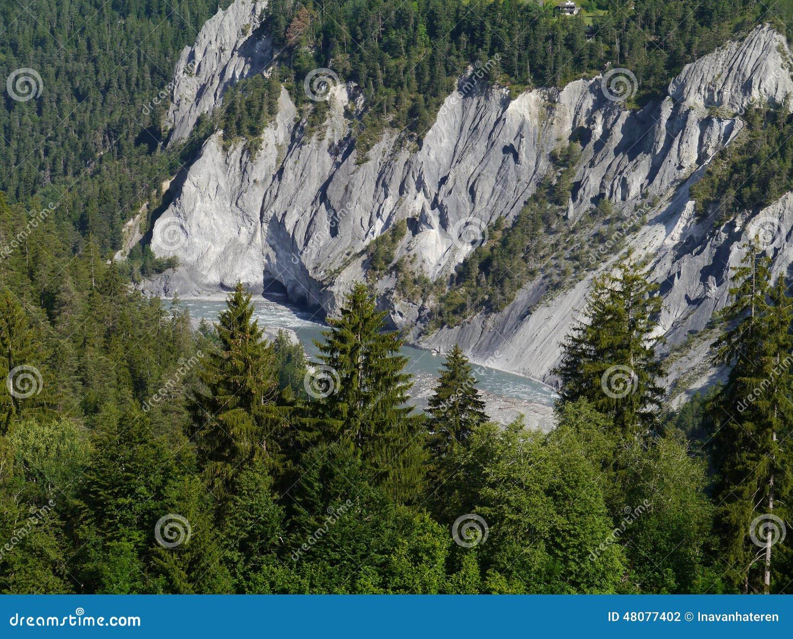 Ruinaulta or Rhine canyon or grand canyon