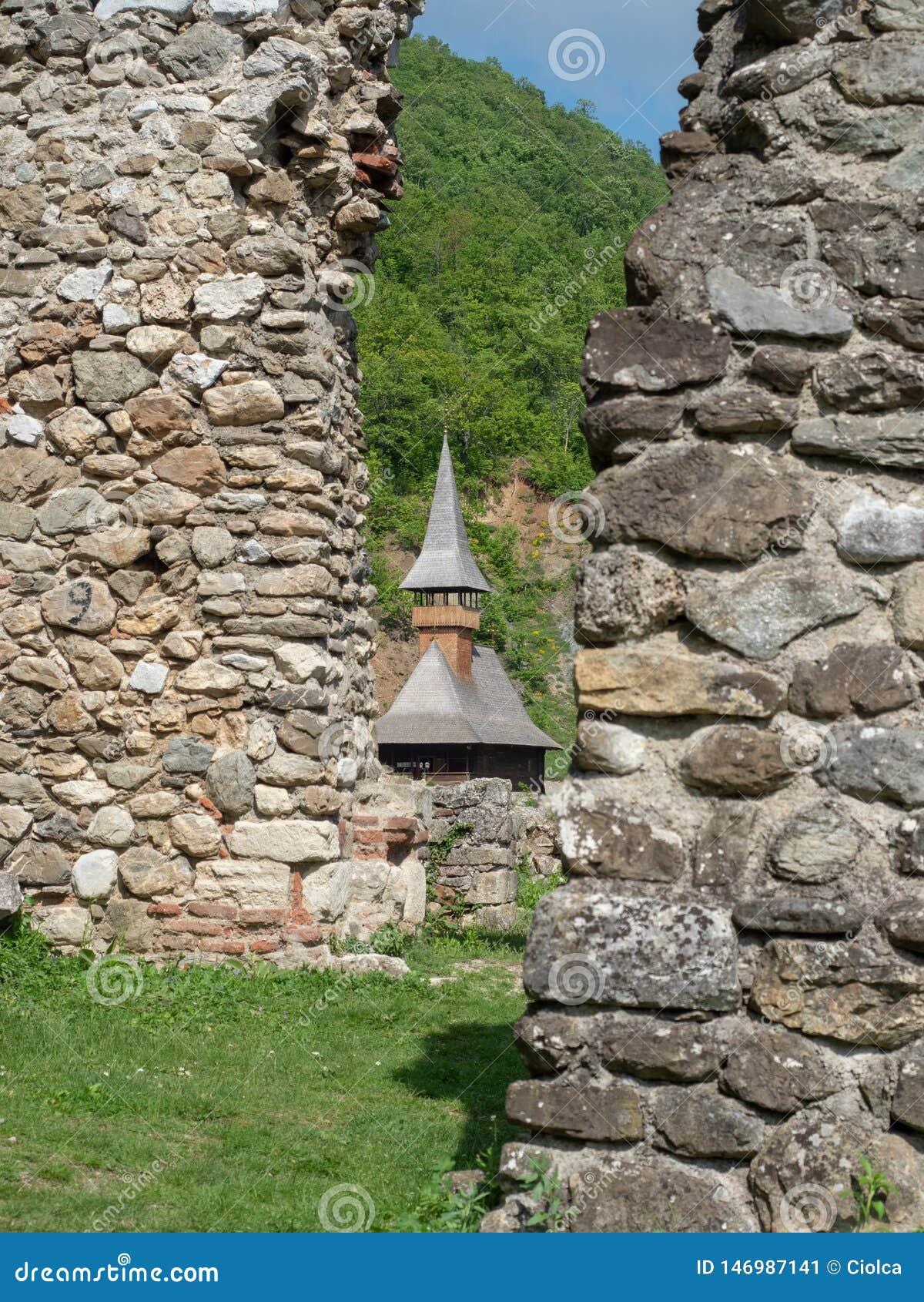 The old church at Vodita monastery, Romania