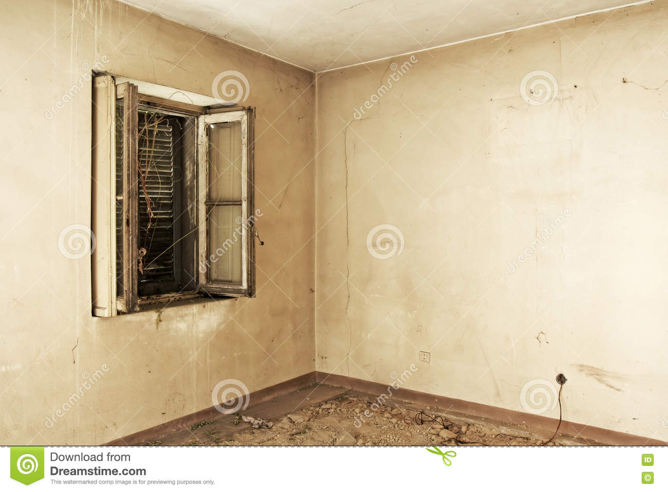 Ruined And Empty Home Interiors Stock Image - Image of destroyed ...