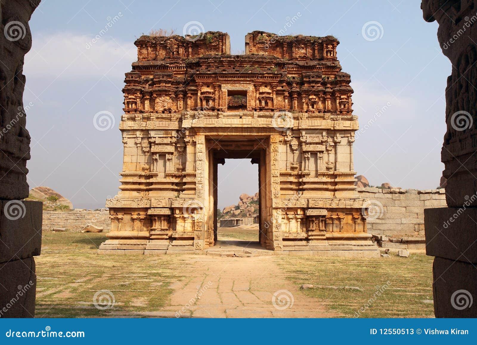 Ruined gateway, hampi