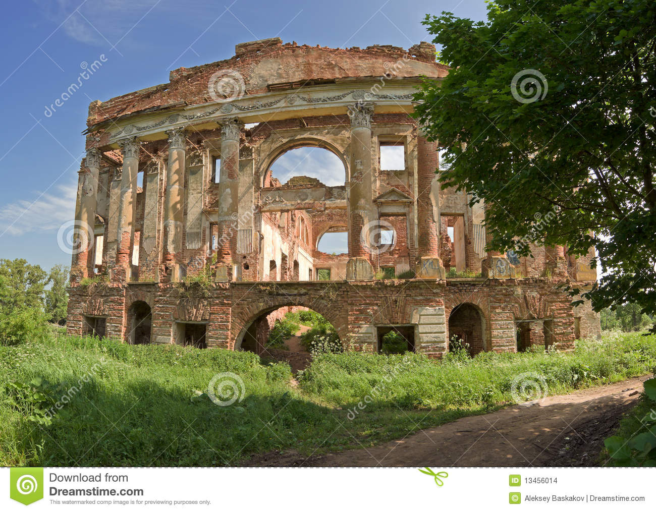 Ruined Mansion House Stock Images Image 13456014