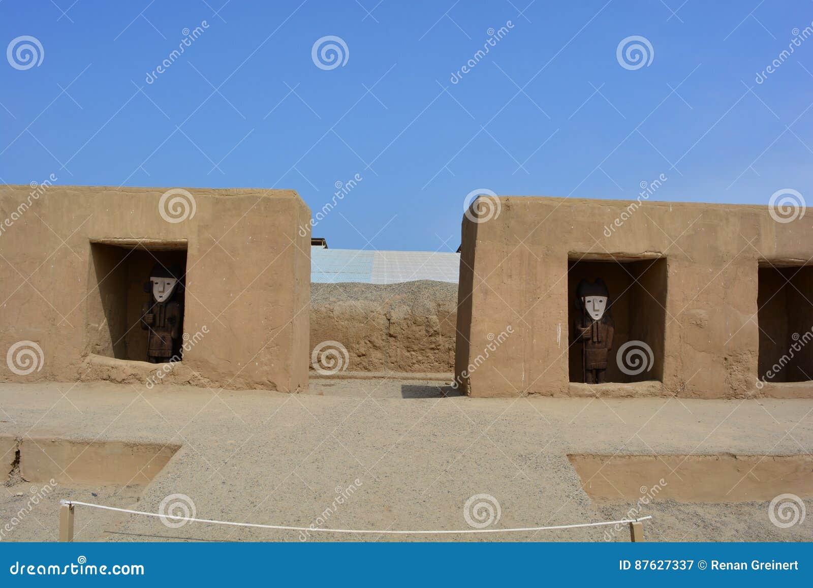 Ruinen der alten Stadt von Chan Chan, Peru