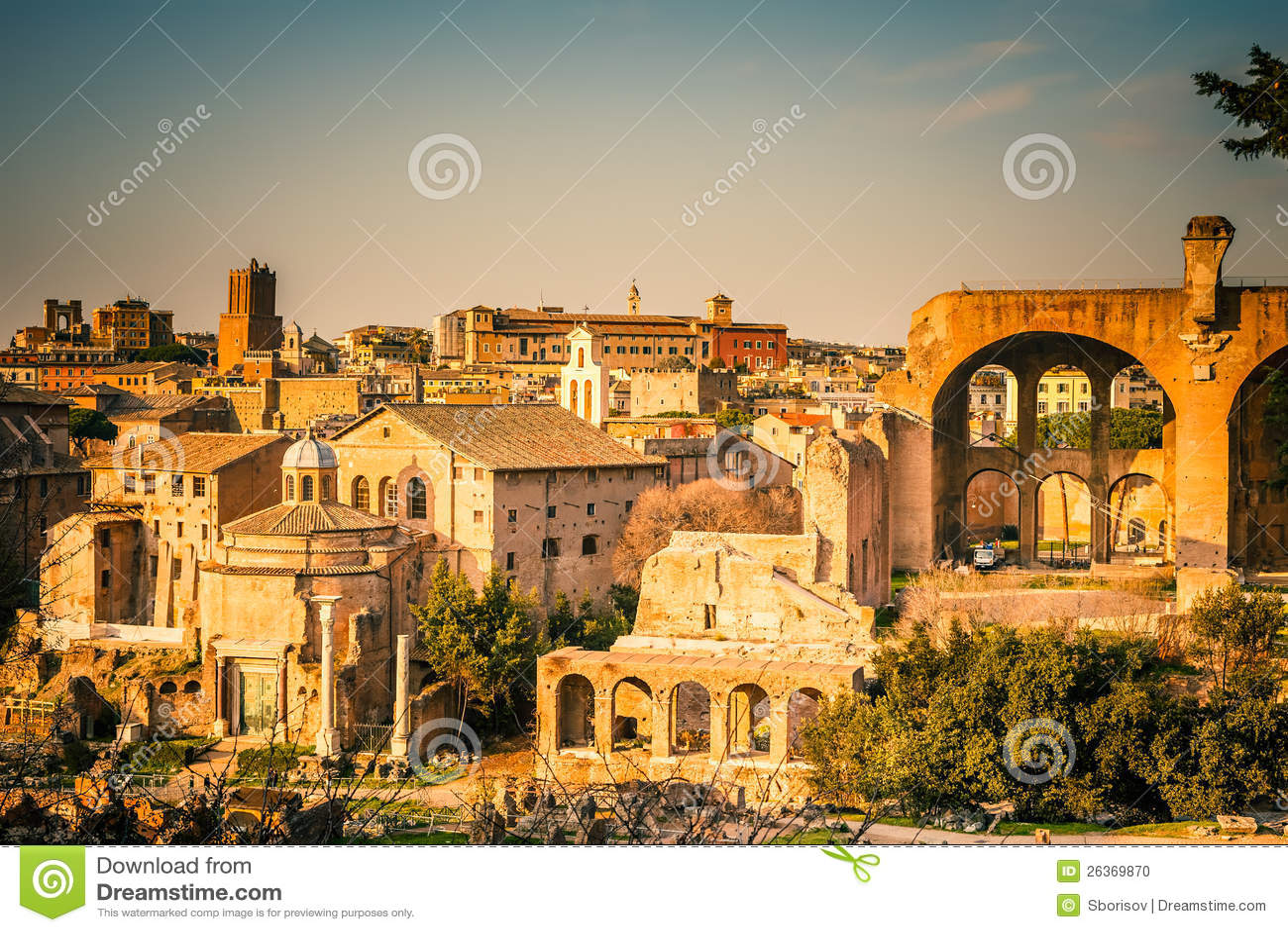 Ruinen des Forums in Rom