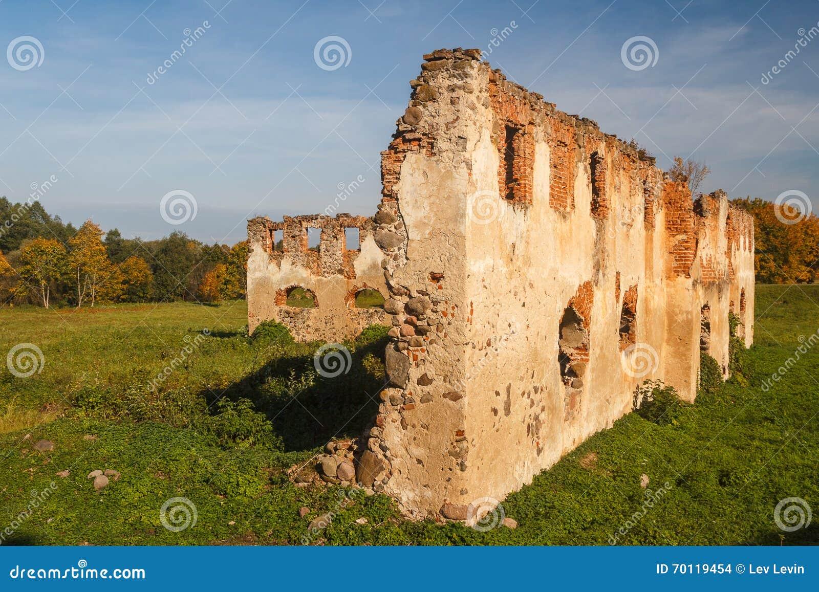Ruinen des Landsitzes nahe Turgelyay