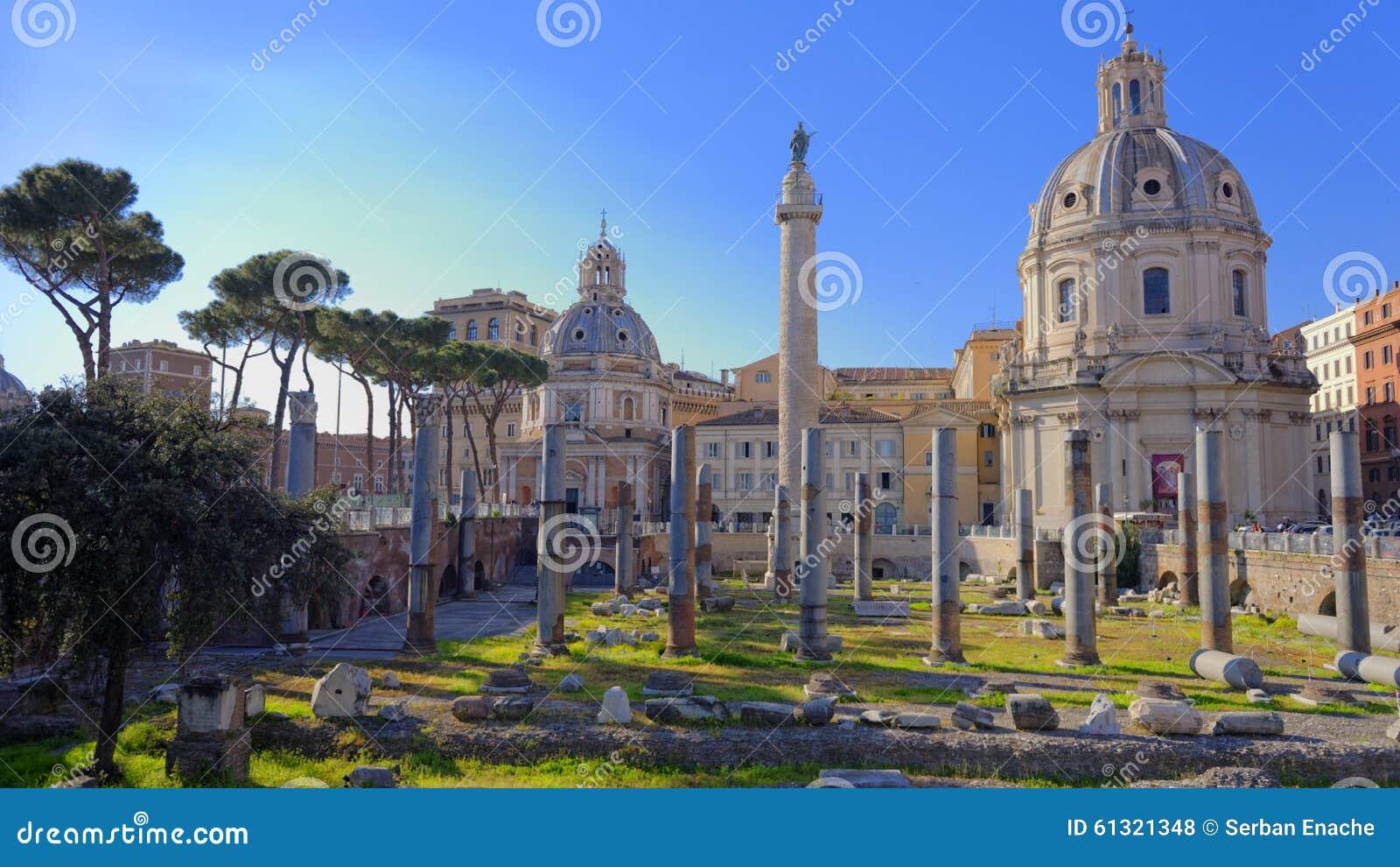Ruines à Rome antique, Italie
