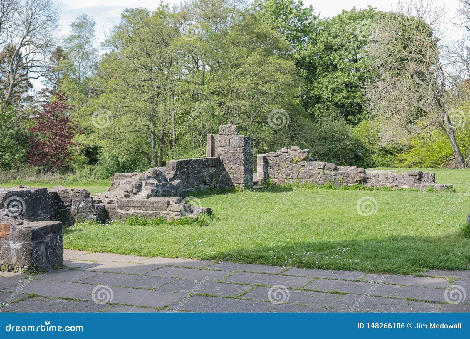 Ruines antiques d Eglinton Irvine Scotland