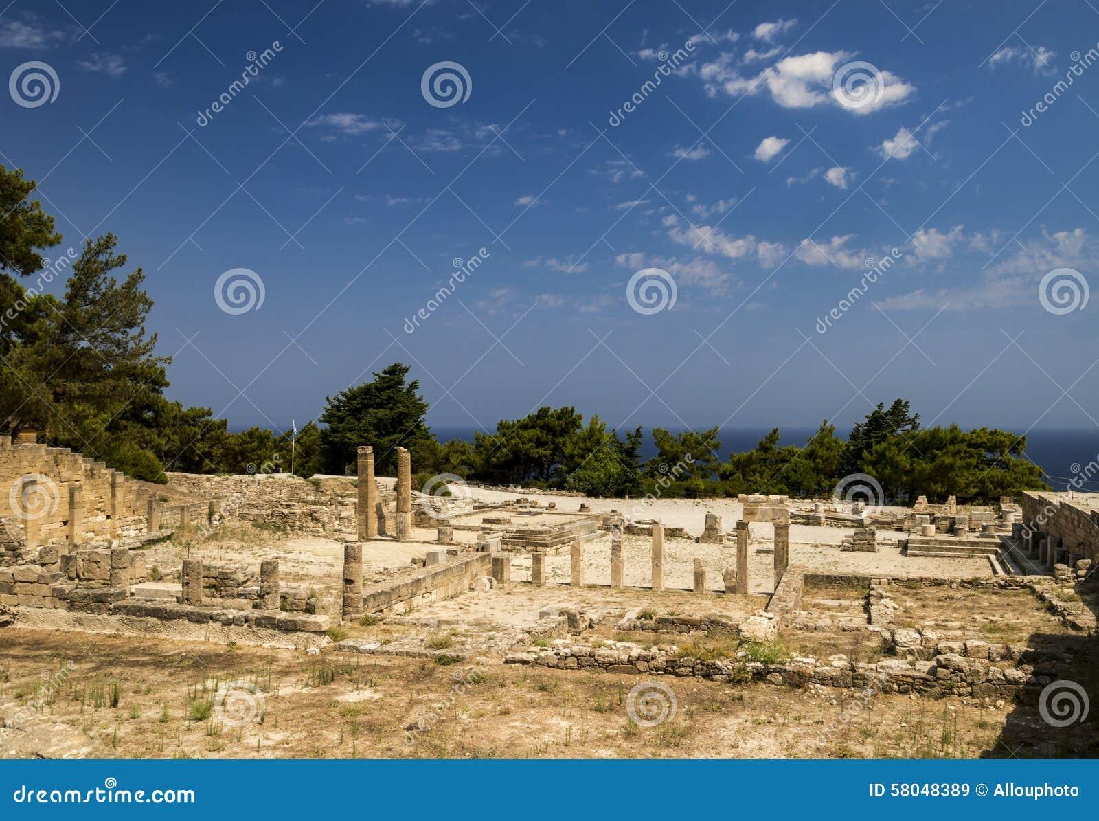 Ruines antiques de Kamiros sur Rhodes