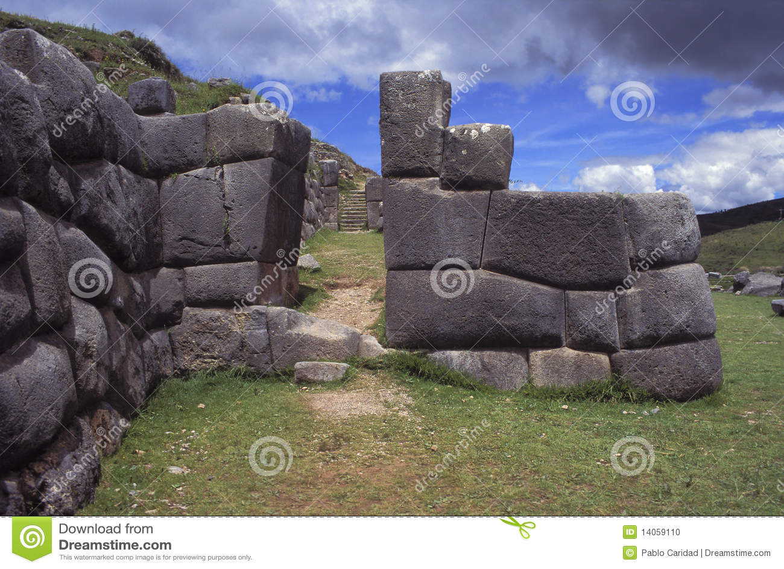 Ruines d Inca dans Cuzco, Pérou.