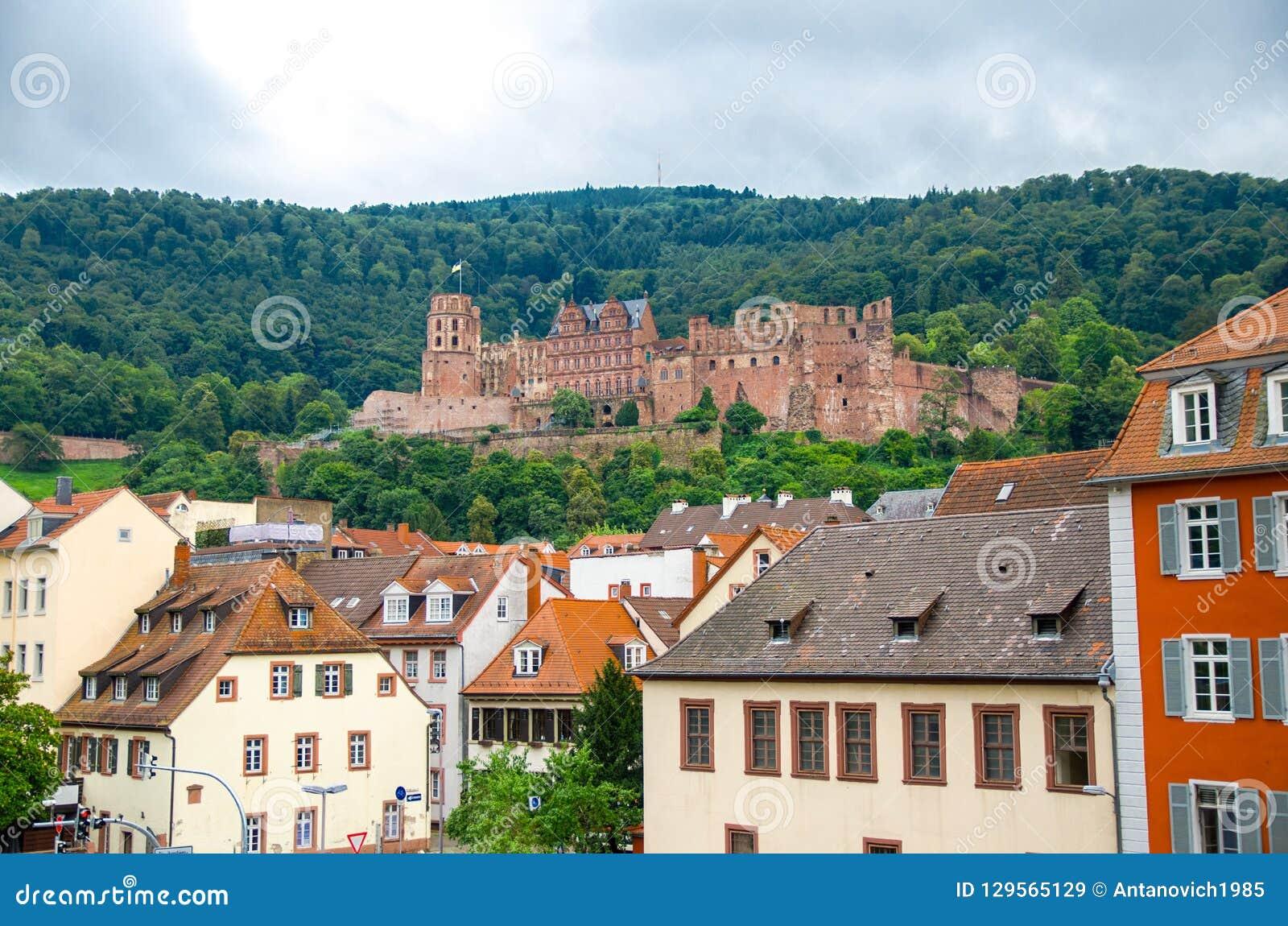 Ruines de château Schloss Heidelberg, Allemagne d Heidelberg