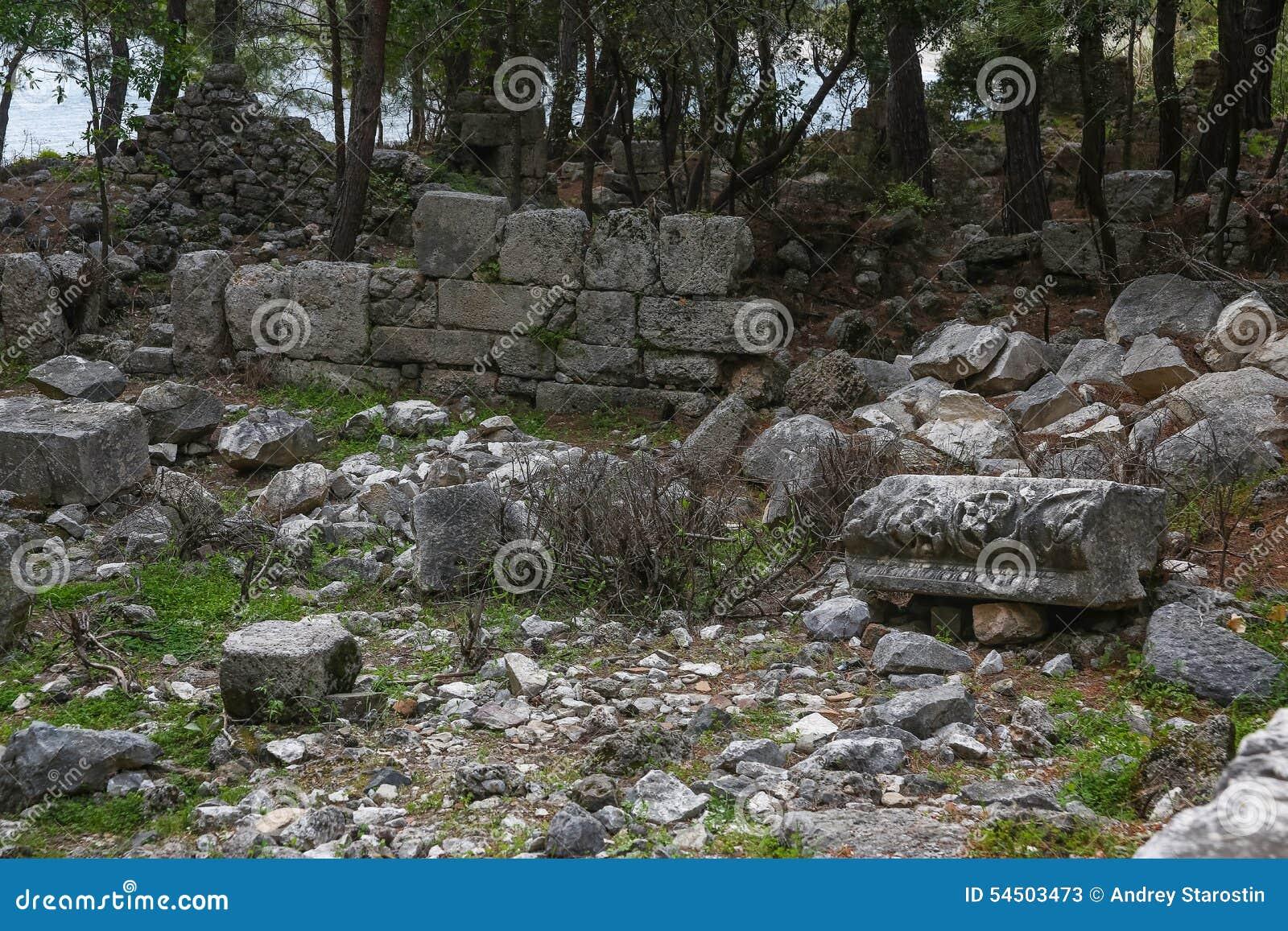 Ruines de Phaselis en Turquie