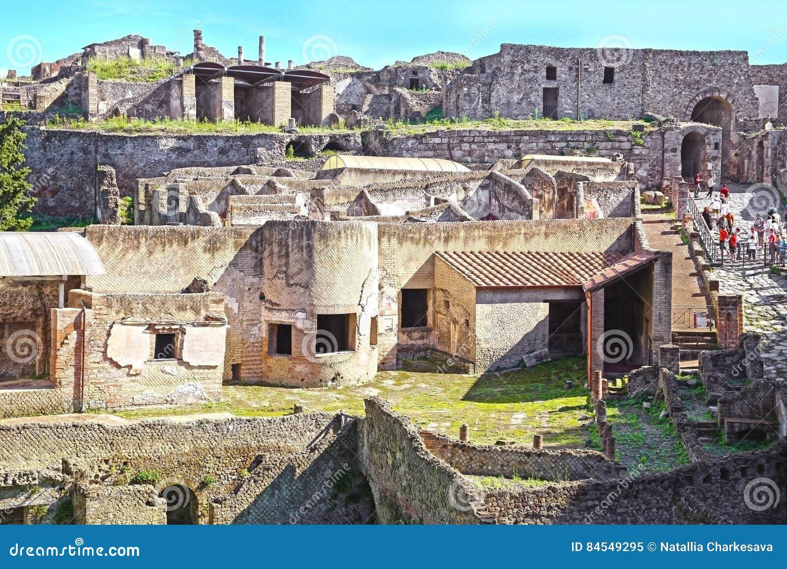 Ruines de Pompeii antique
