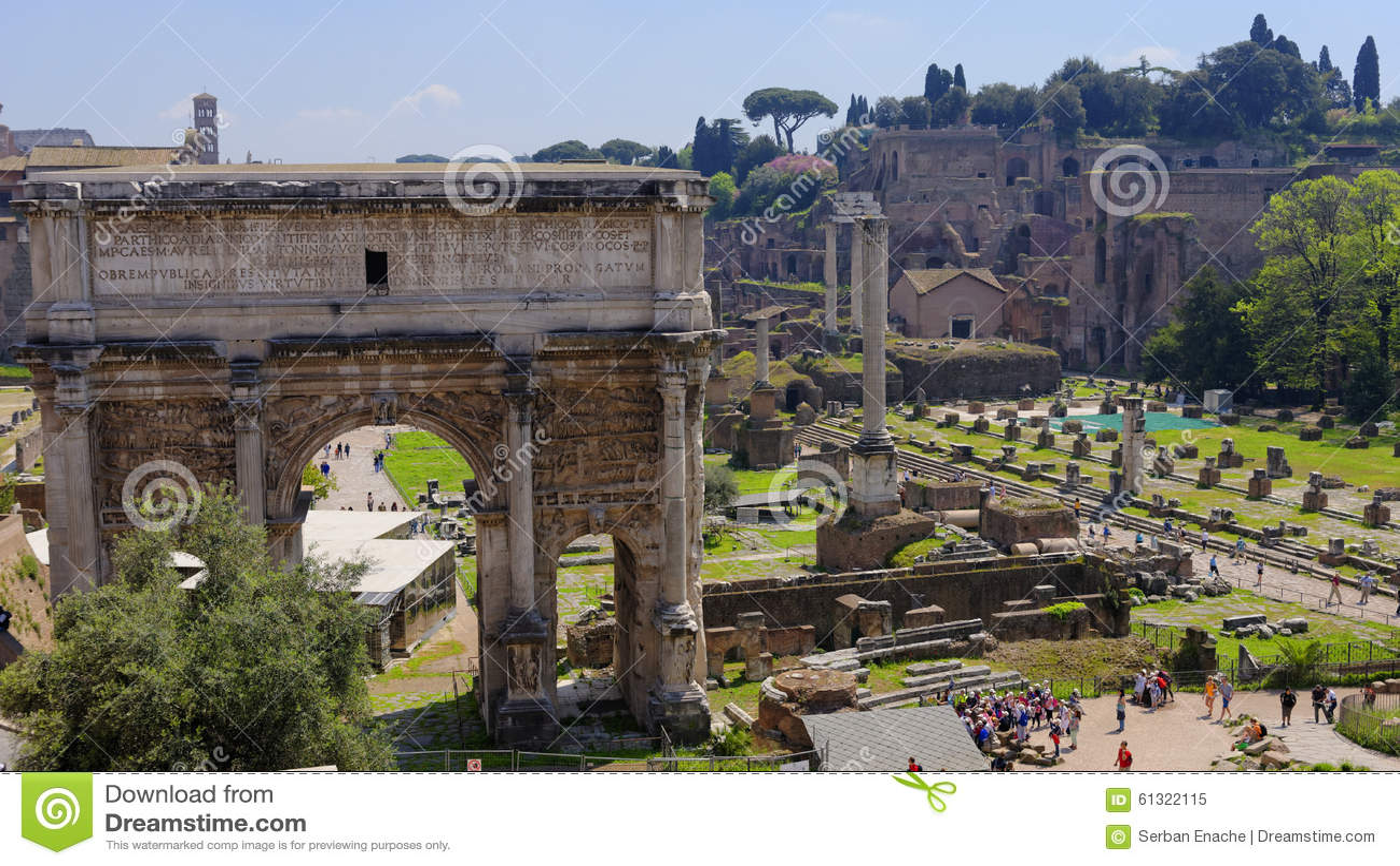Ruines de Rome antique, Italie